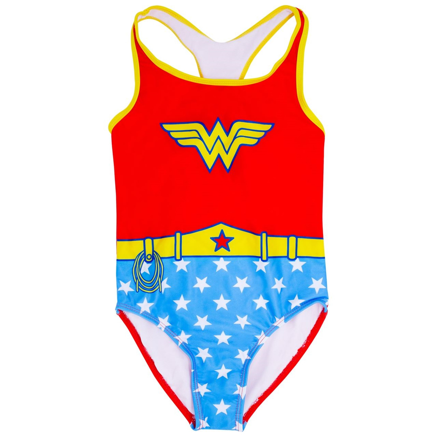 Wonder Woman Costume Youth One Piece Swimsuit