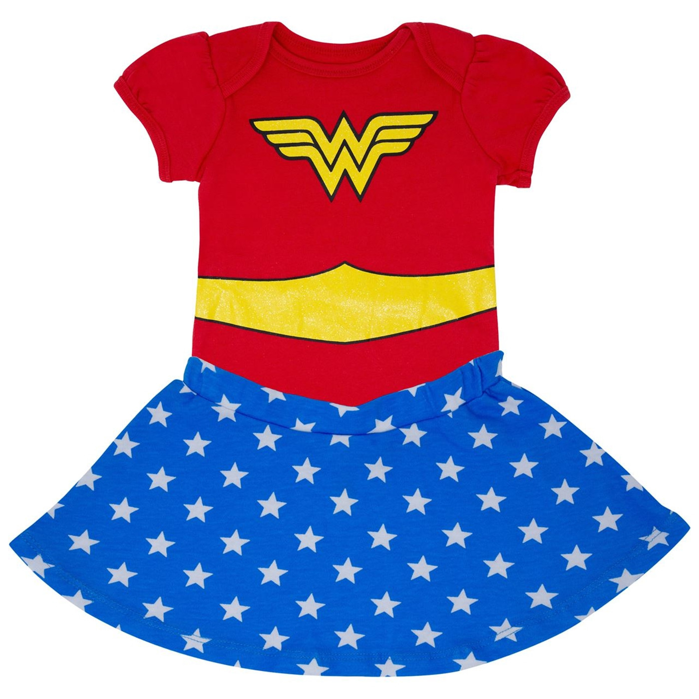 Wonder Woman Infant Snapsuit with Skirt