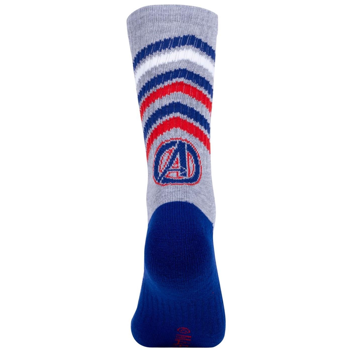 Captain America Two Pack Athletic Kids Socks