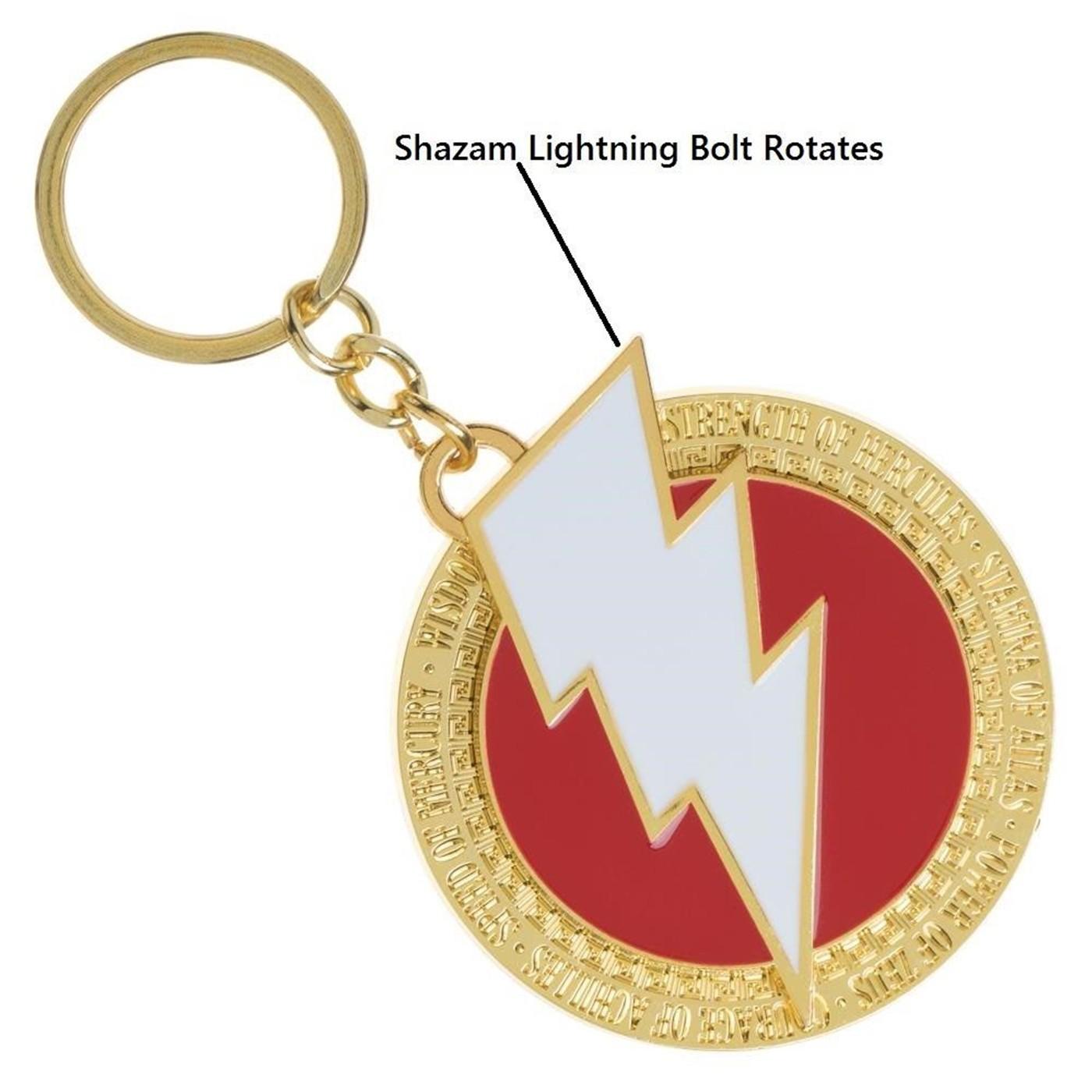 Shazam Movie Logo Keychain