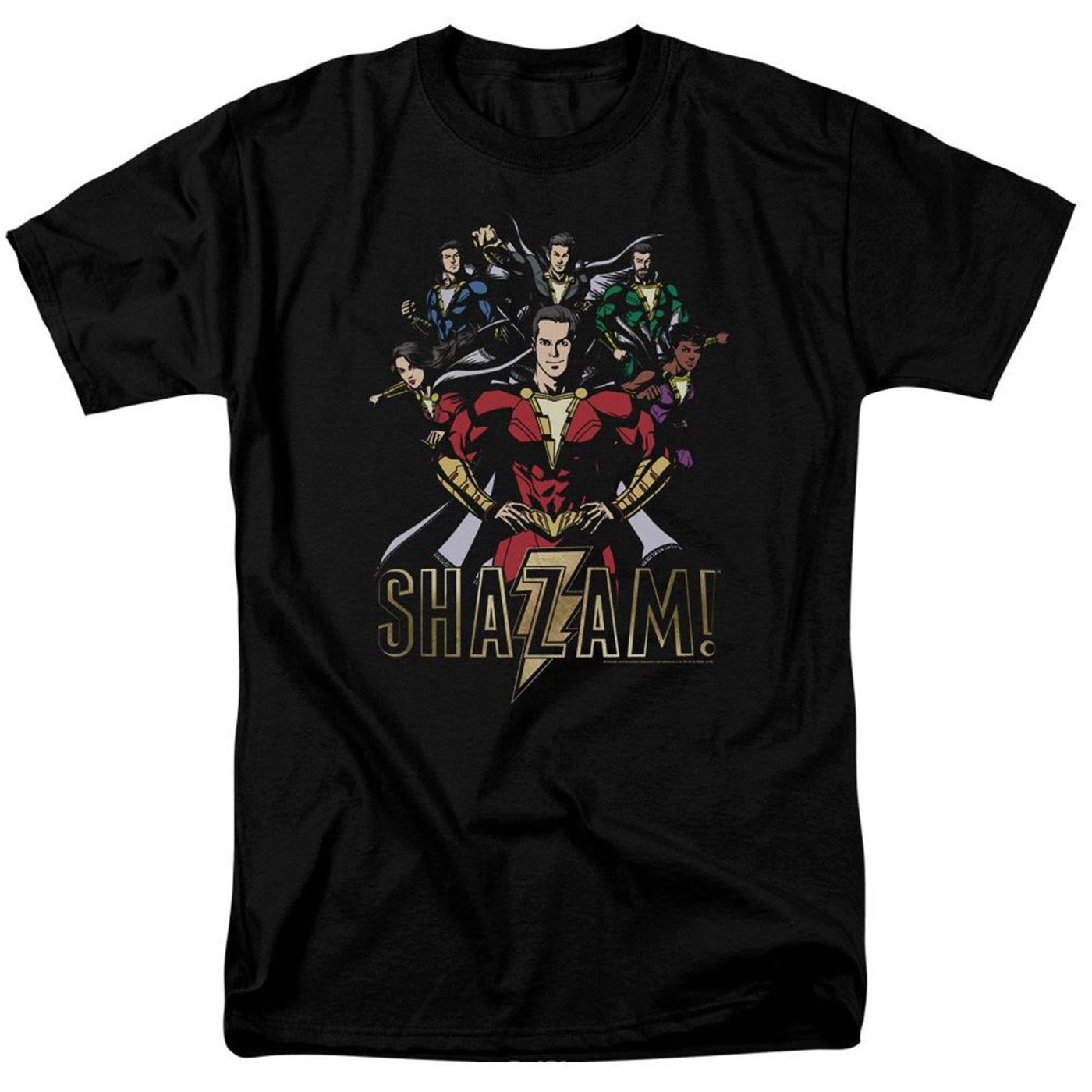 Shazam Movie Group of Heroes Men's T-Shirt