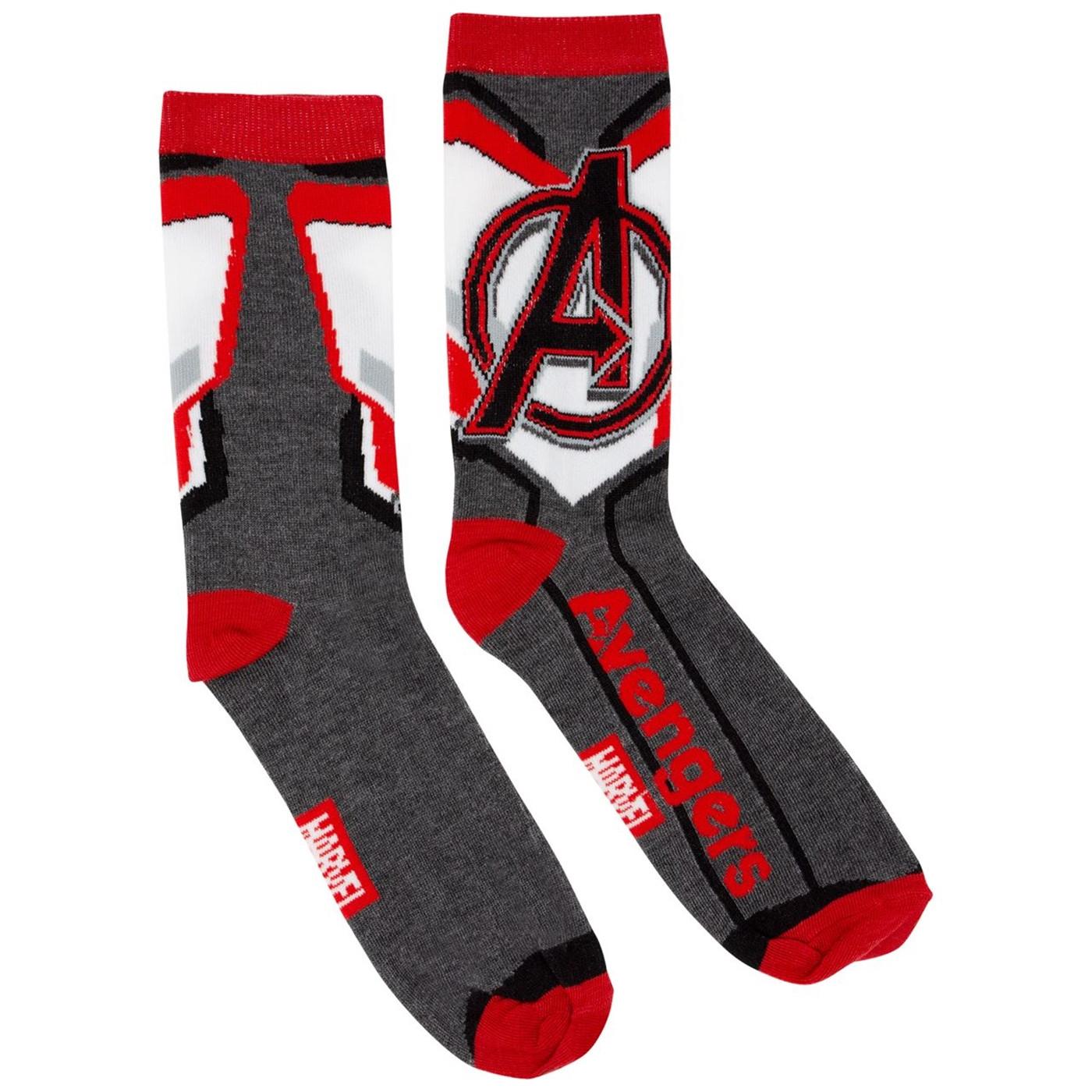 Avengers Endgame Quantum Realm Suit Costume Men's Crew Socks