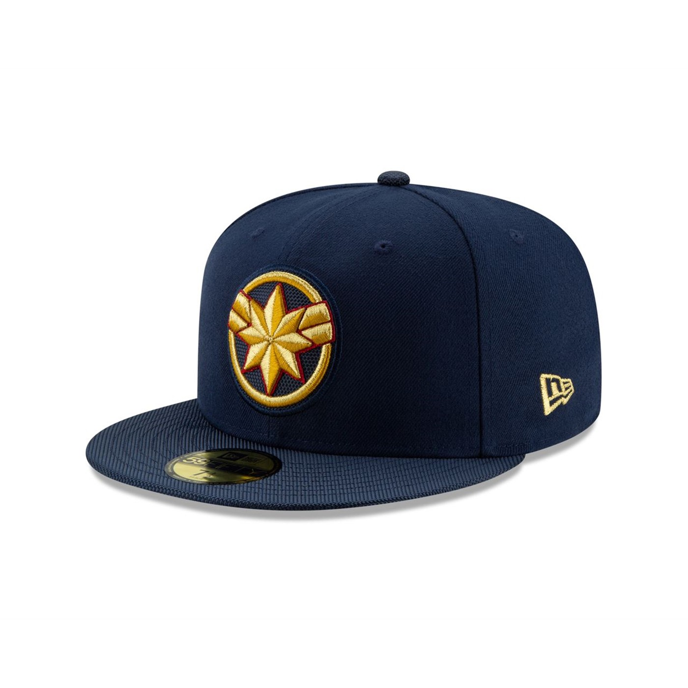 Captain Marvel Movie Logo Navy New Era 59Fifty Fitted Hat