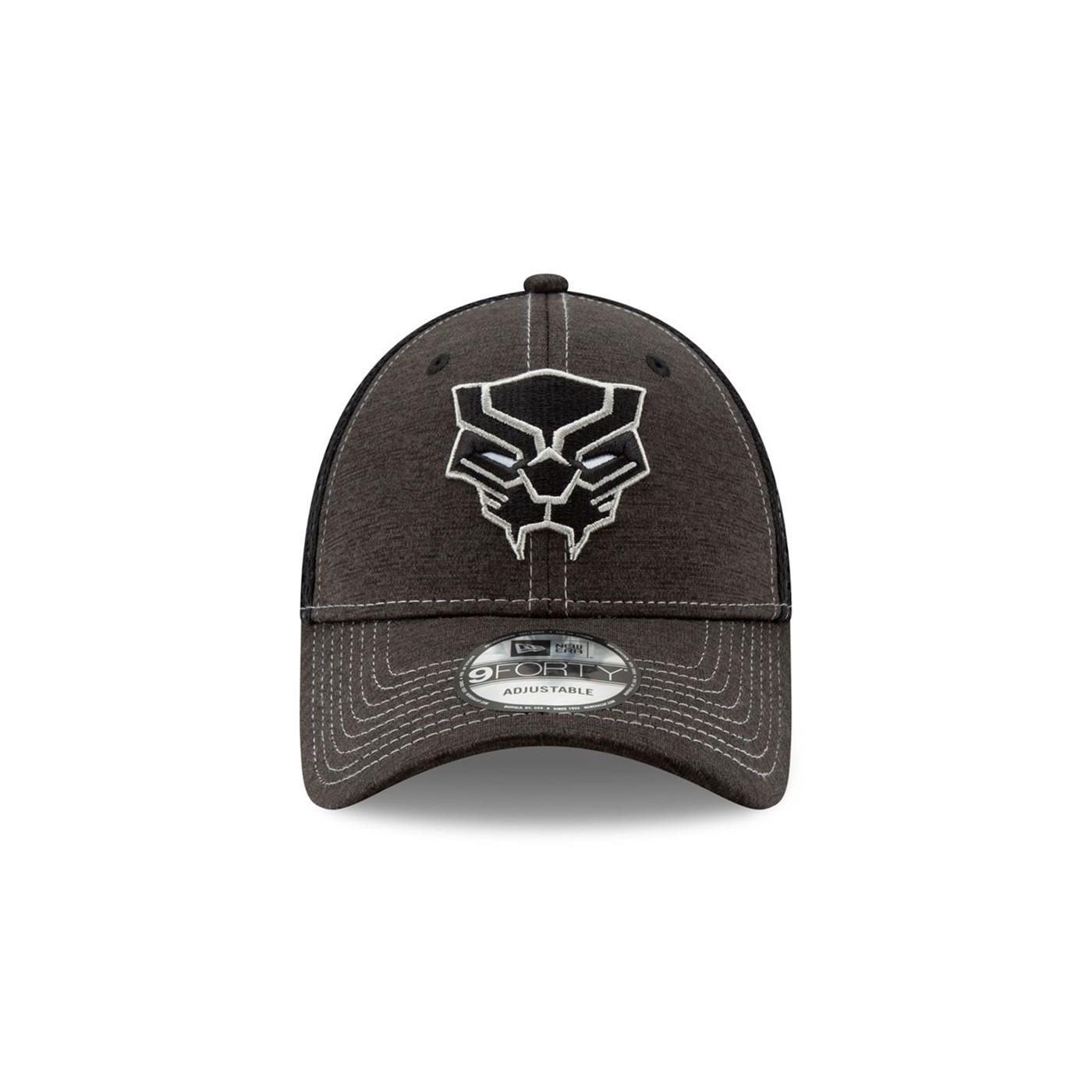 Black Panther Logo Dark Grey New Era 9Forty Adjustable Hat