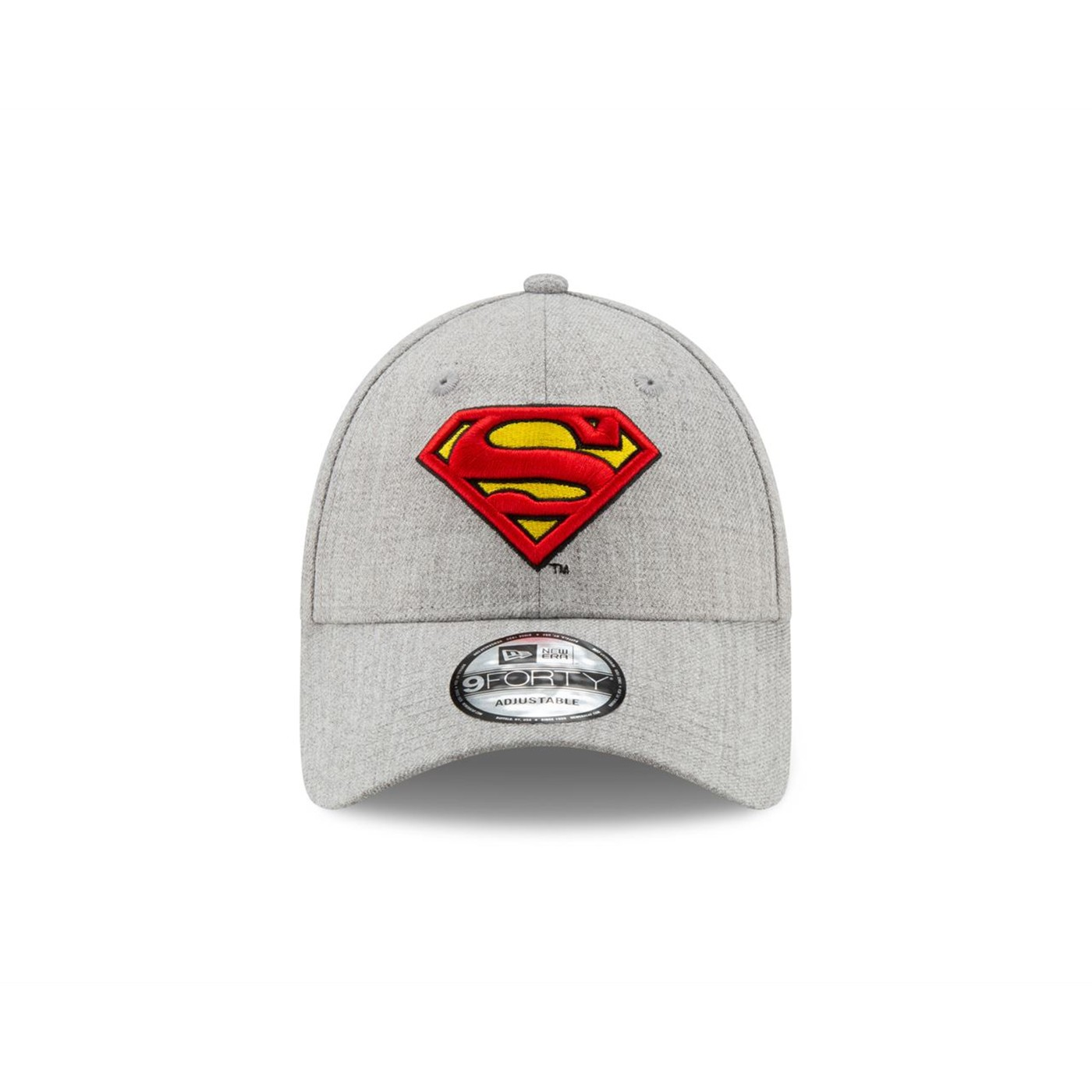Superman Classic Logo Grey New Era 9Forty Adjustable Hat