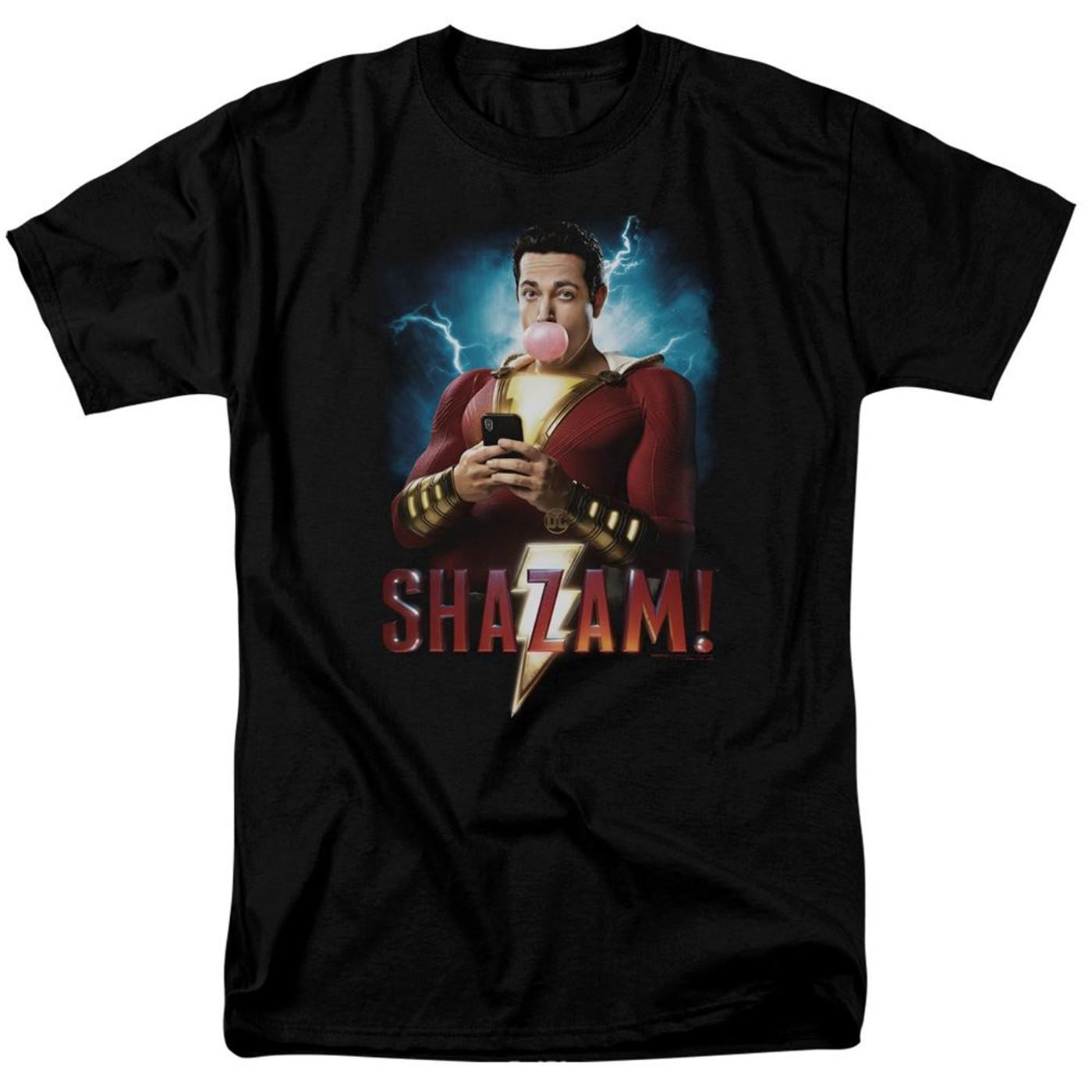 Shazam Movie Blowing Up Men's T-Shirt