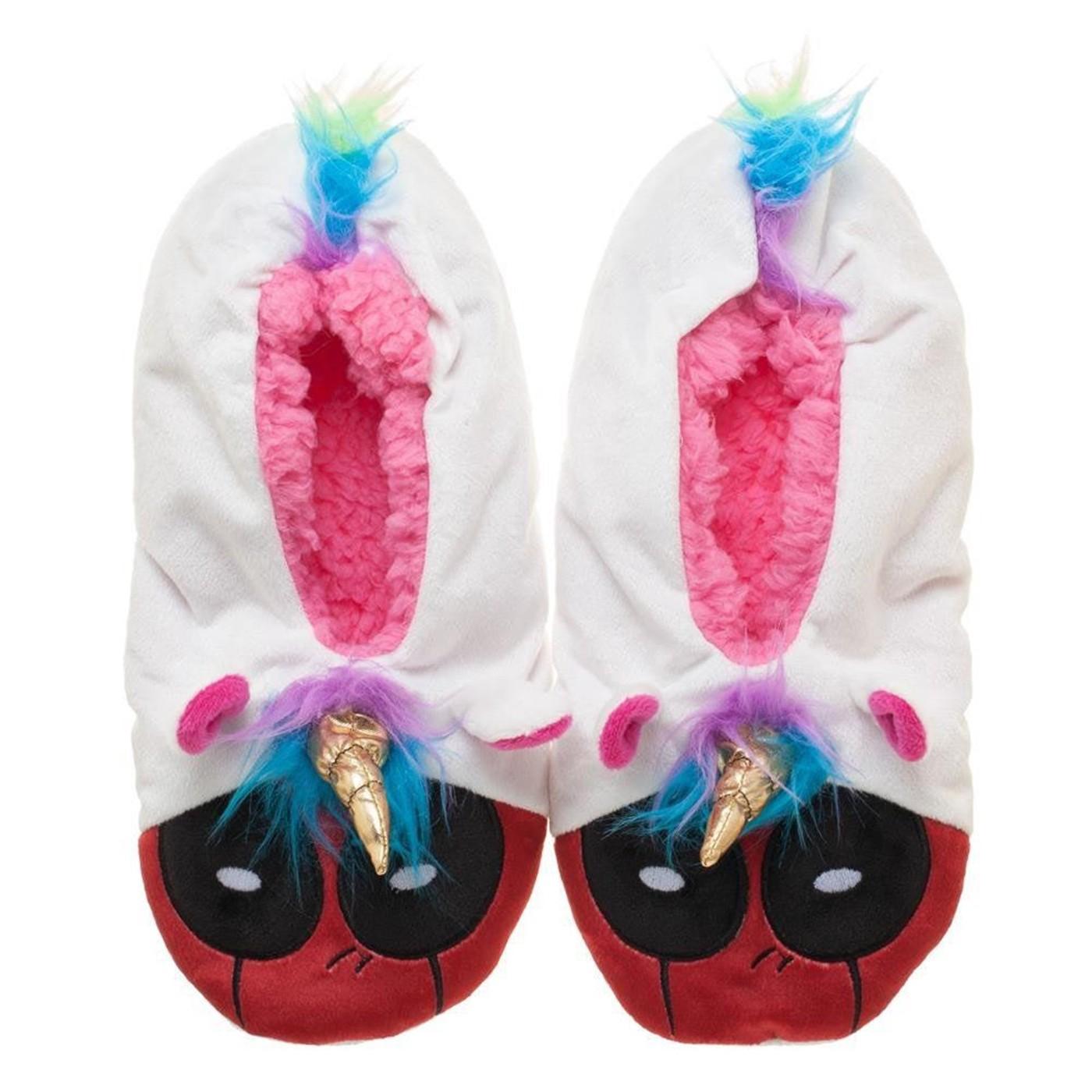 Deadpool Unicorn Mashup Slipper Socks