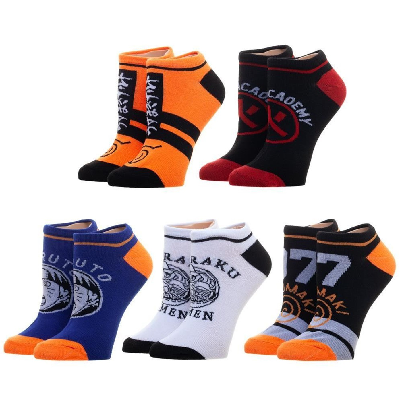 Naruto Five Pack Ankle Set