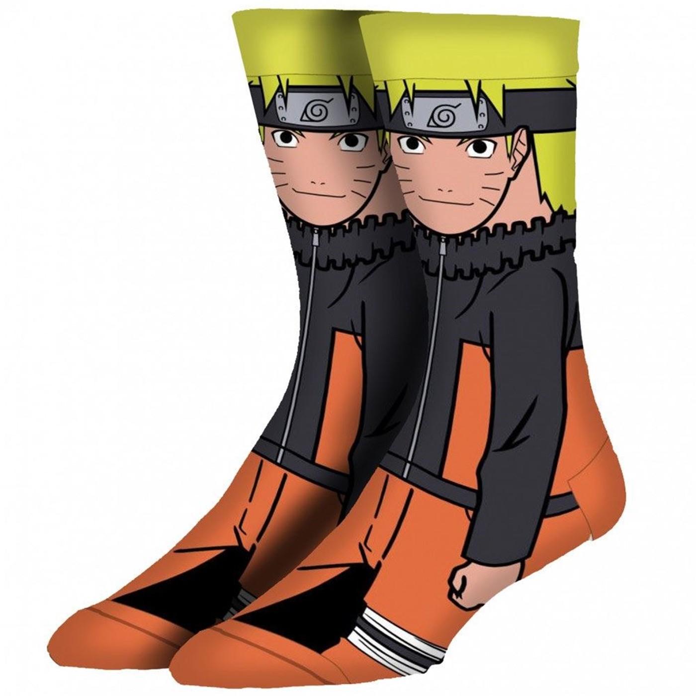 Naruto 360 Crew Sock