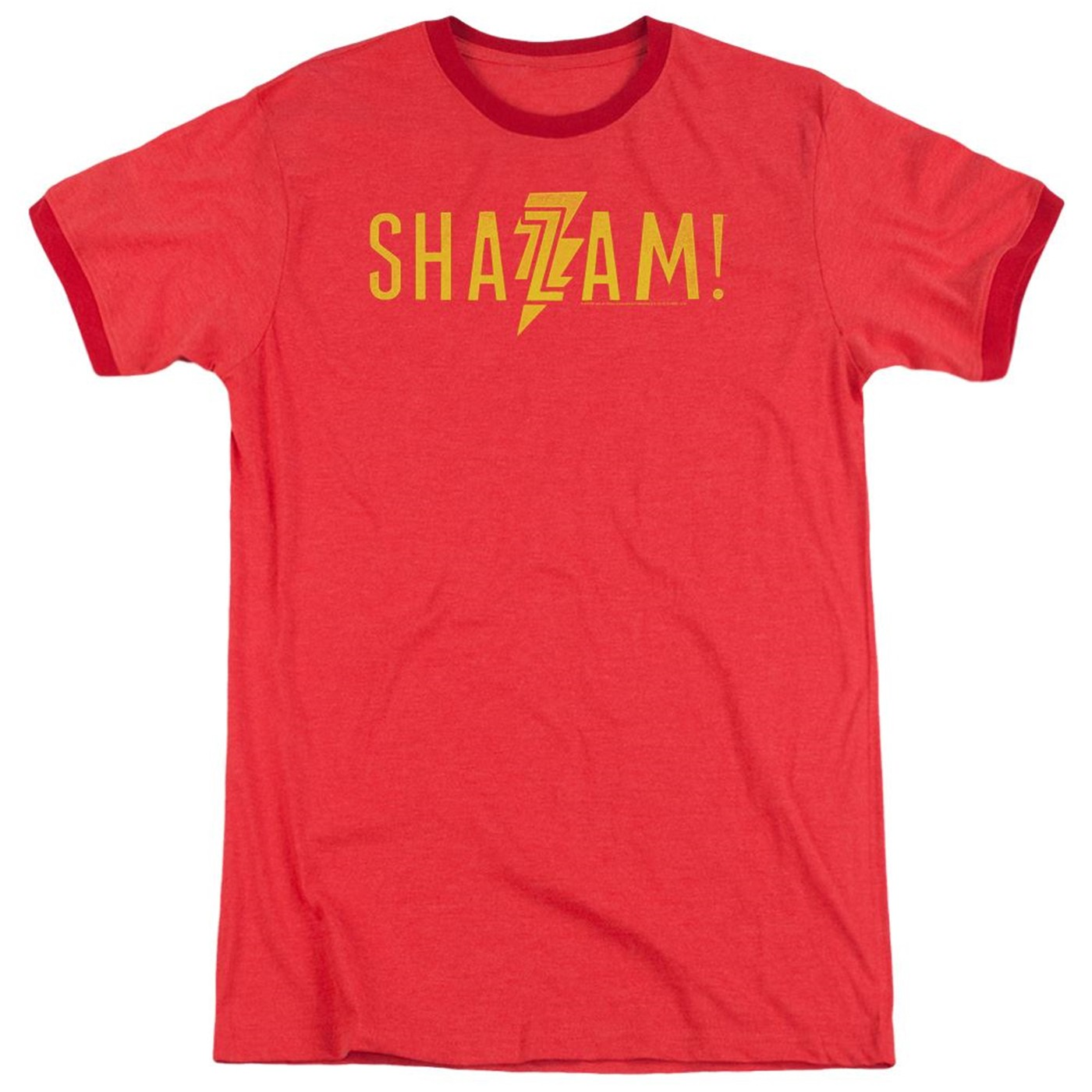 Shazam Movie Logo Ringer Men's T-Shirt