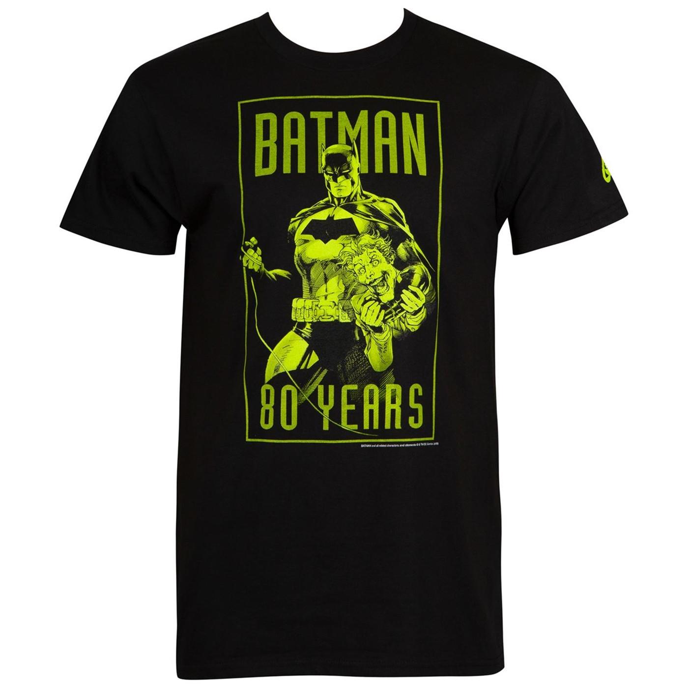 Batman 80th: Batman and Joker Men's T-Shirt