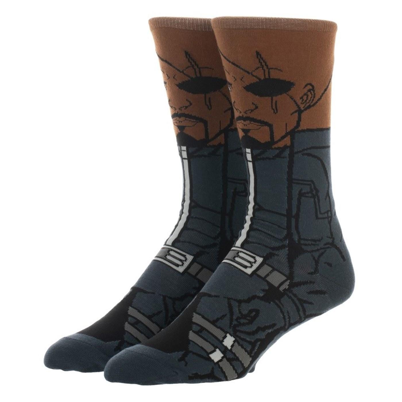 Nick Fury 360 Character Crew Sock