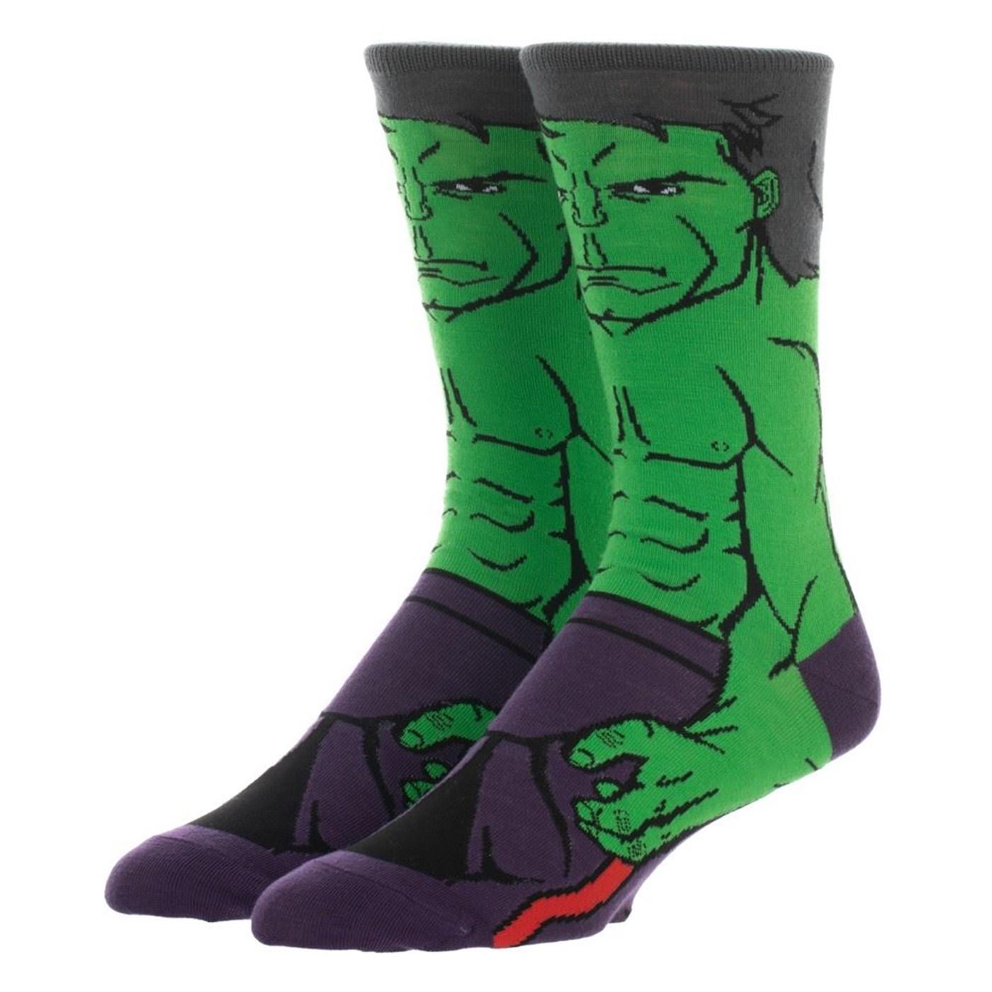 Incredible Hulk 360 Character Crew Sock