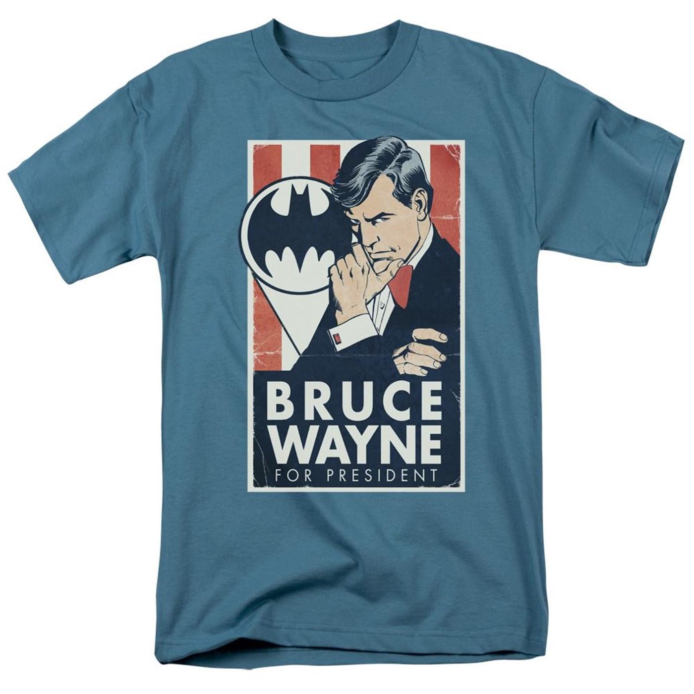 Bruce Wayne For President Batman Men's T-Shirt