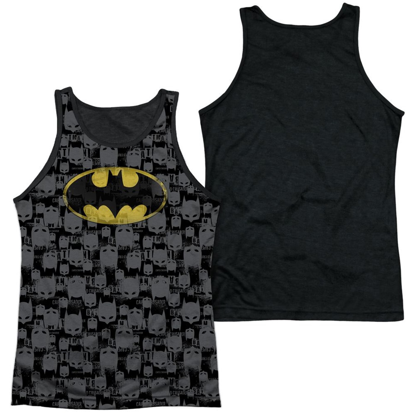 Caped Crusader Repeat Batman Sublimated Tank Top