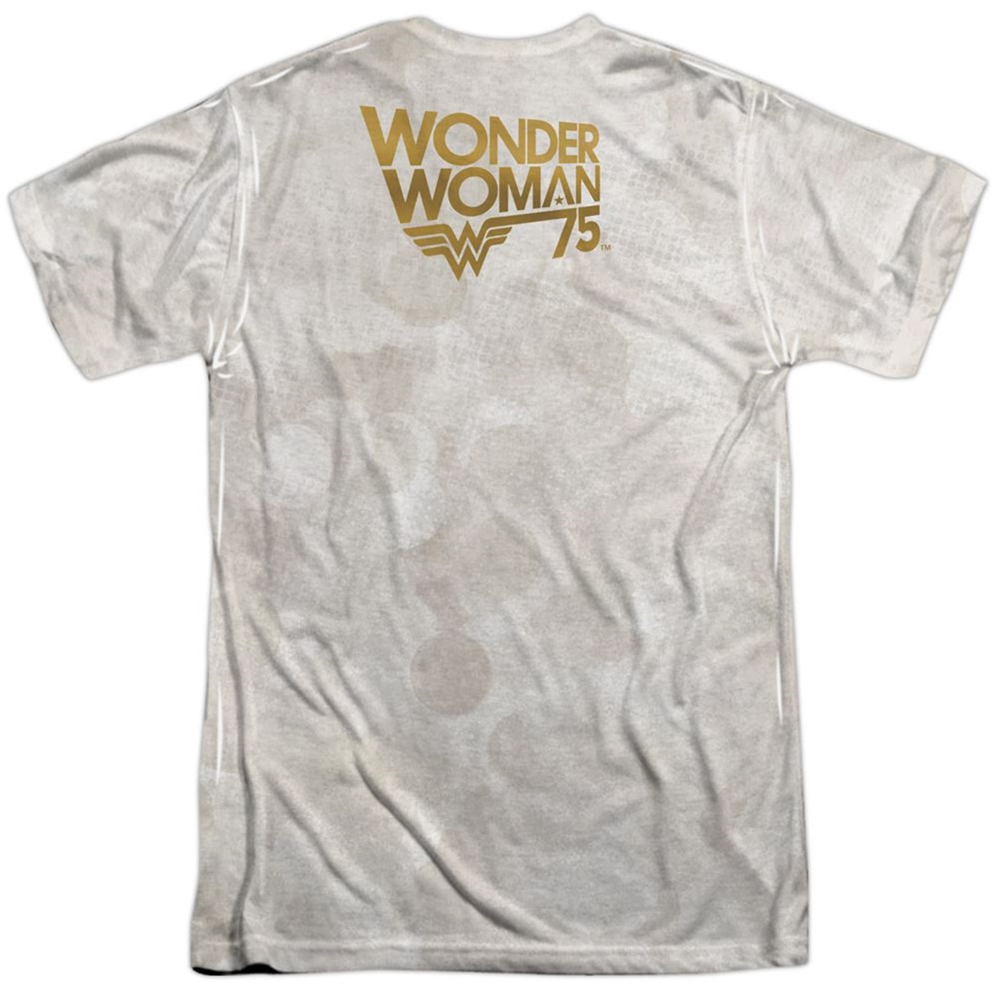 Wonder Woman 75th Collage Men's Sublimated Front and Back T-Shirt