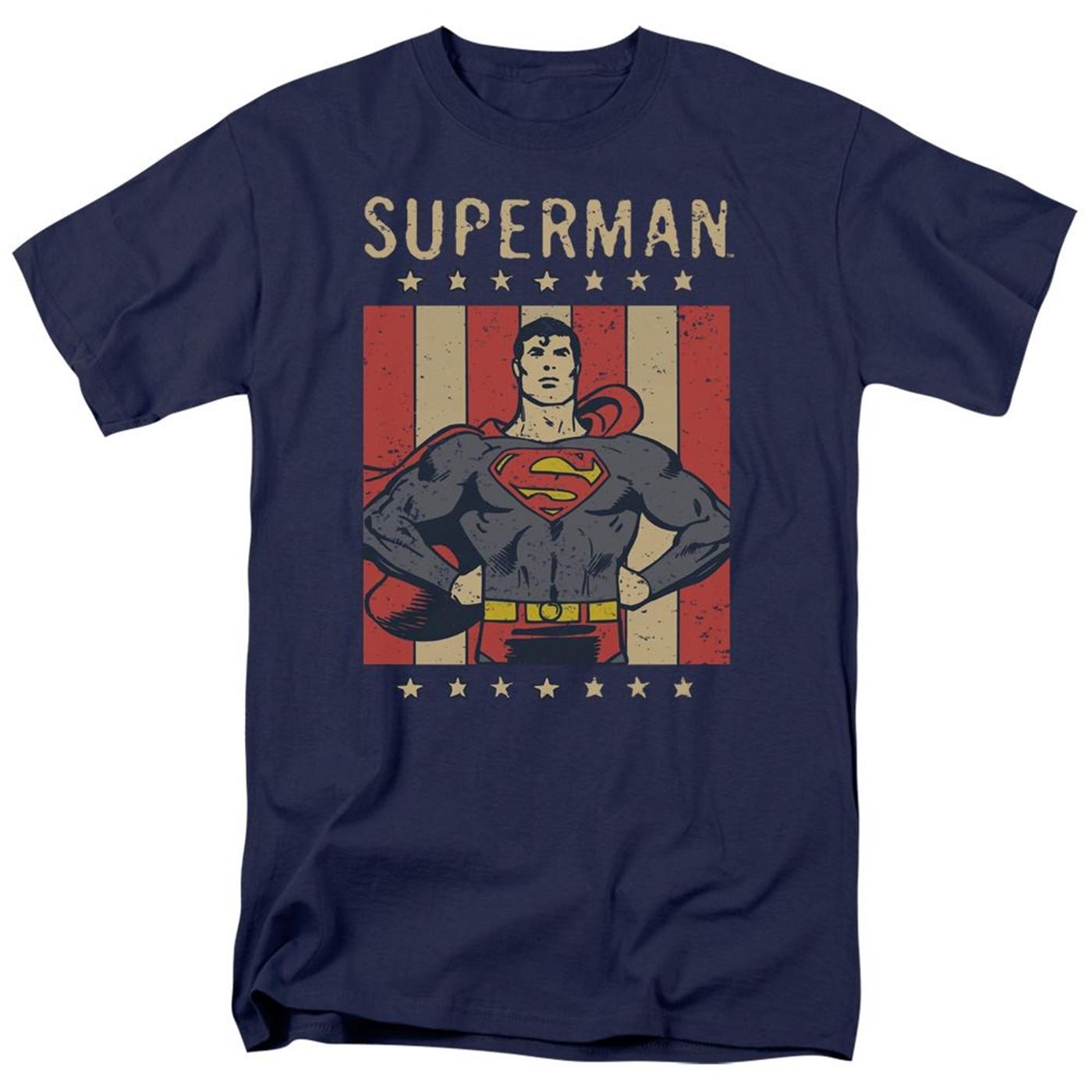Superman Retro Liberty Men's T-Shirt