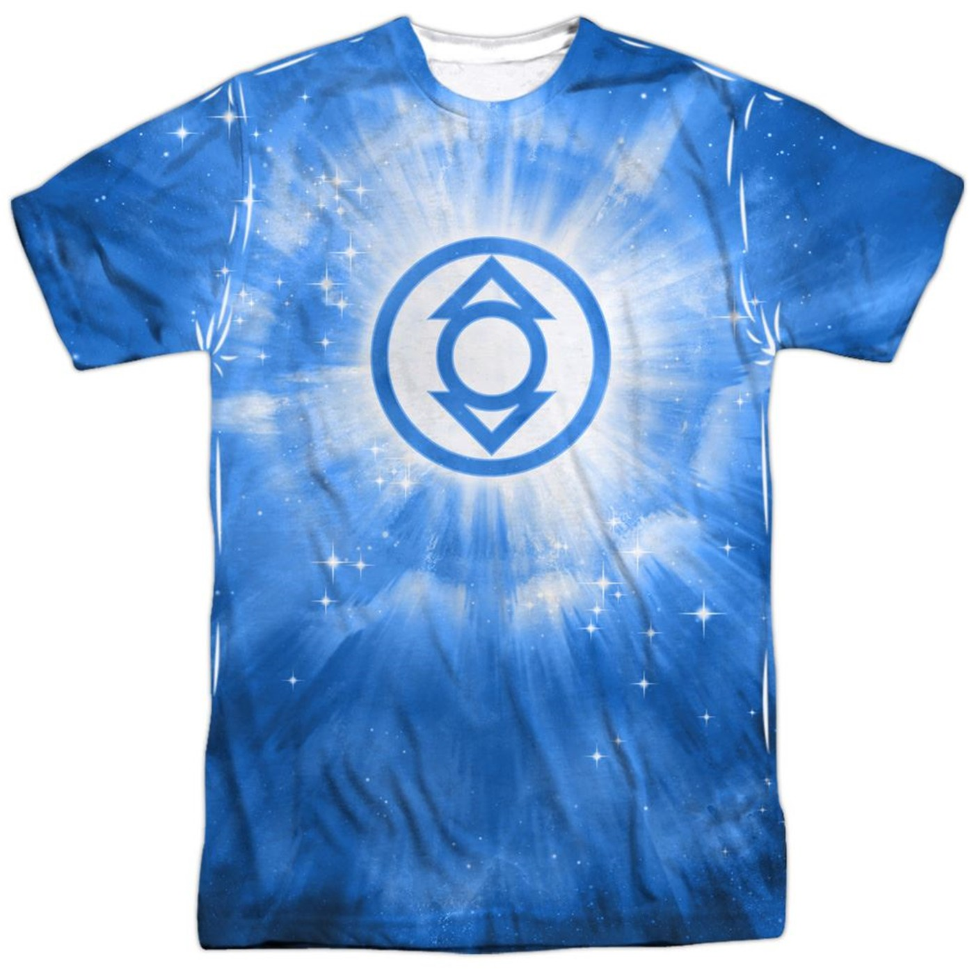 Green Lantern Indigo Energy Symbol Sublimated Front and Back Men's T-Shirt