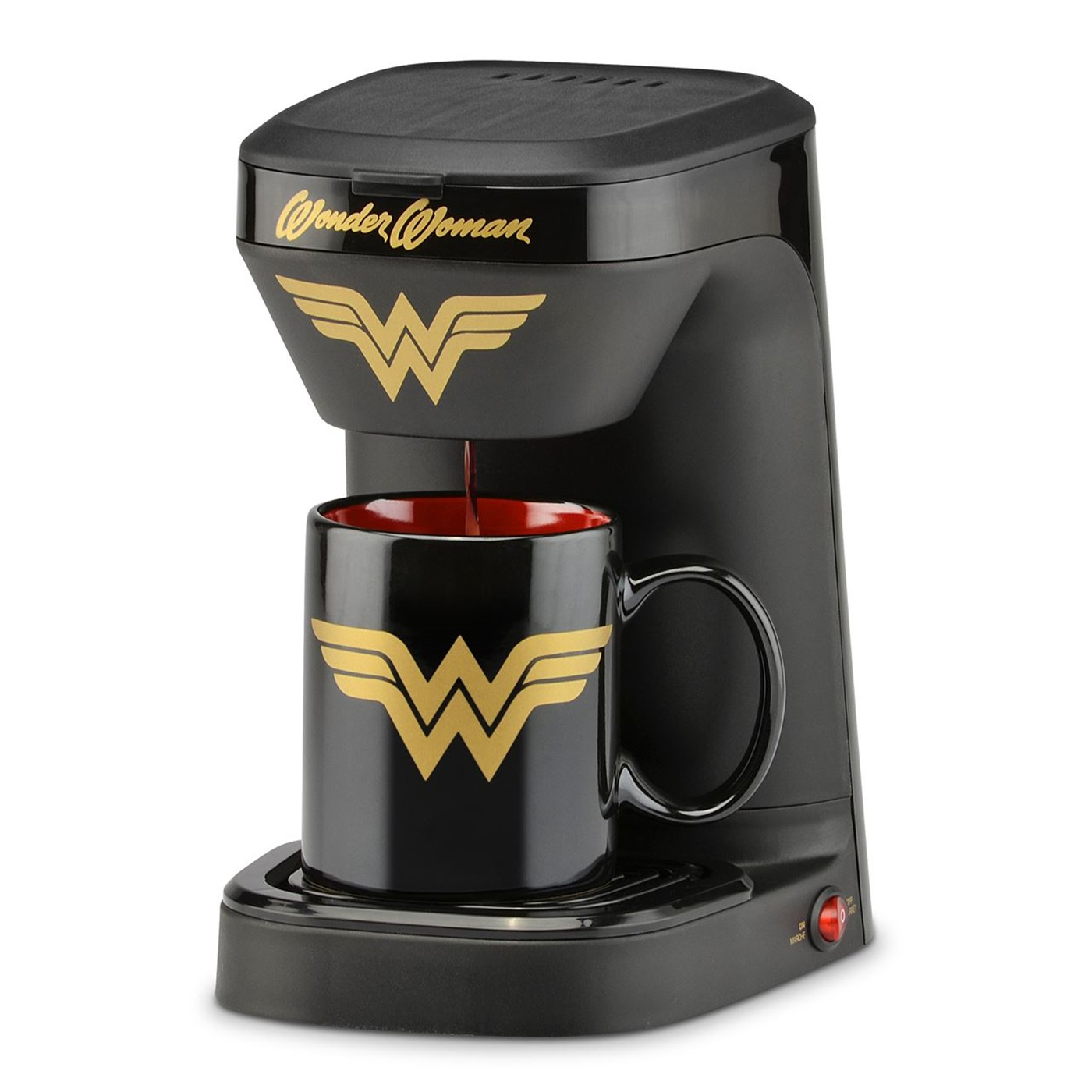 Wonder Woman 1-Cup Coffee Maker with Mug