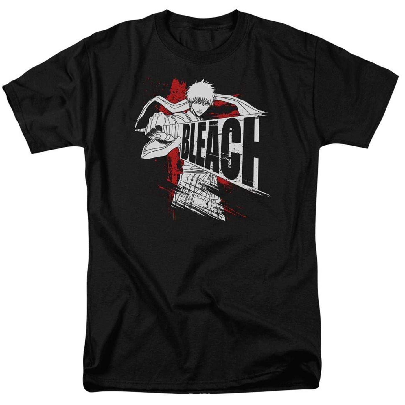 DROP Bleach Sword Drawn Black Men's T-Shirt
