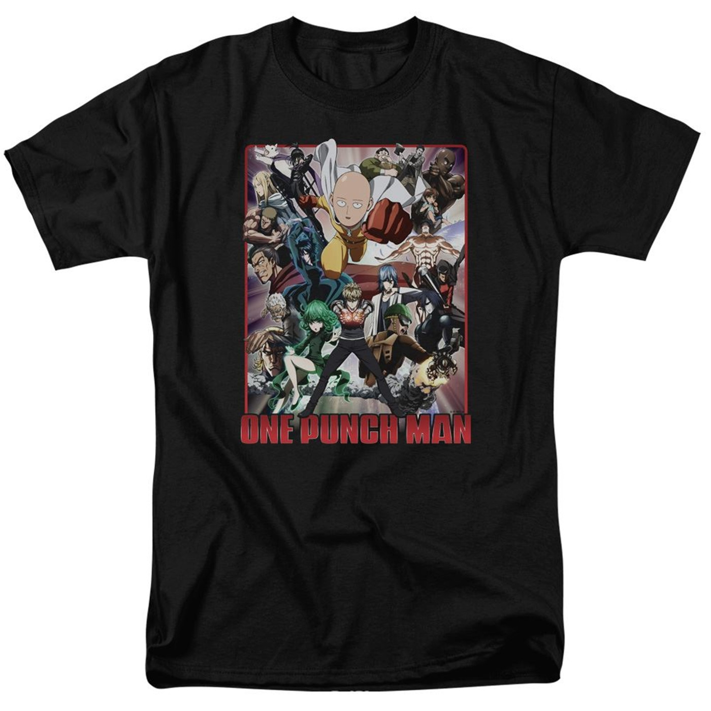DROP One Punch Man Cast of Characters Black Men's T-Shirt
