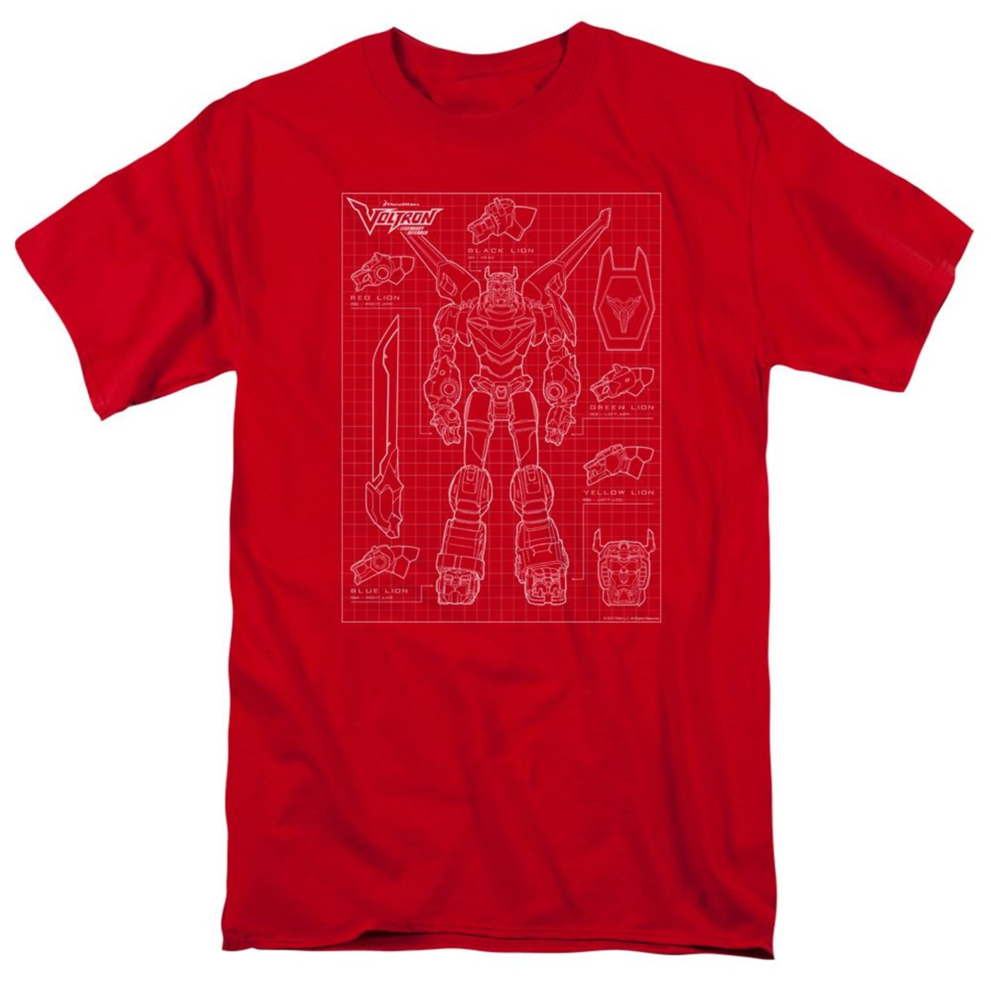 Voltron Schematic Red Men's T-Shirt
