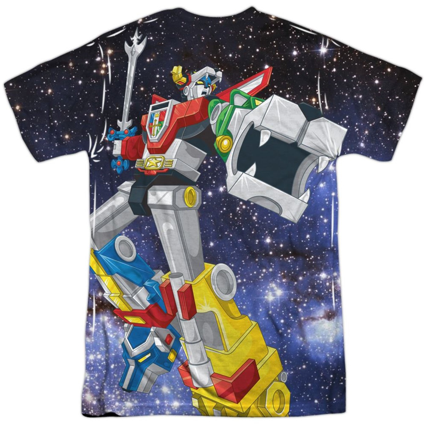 Voltron Space Defender Front and Back Sublimated T-Shirt