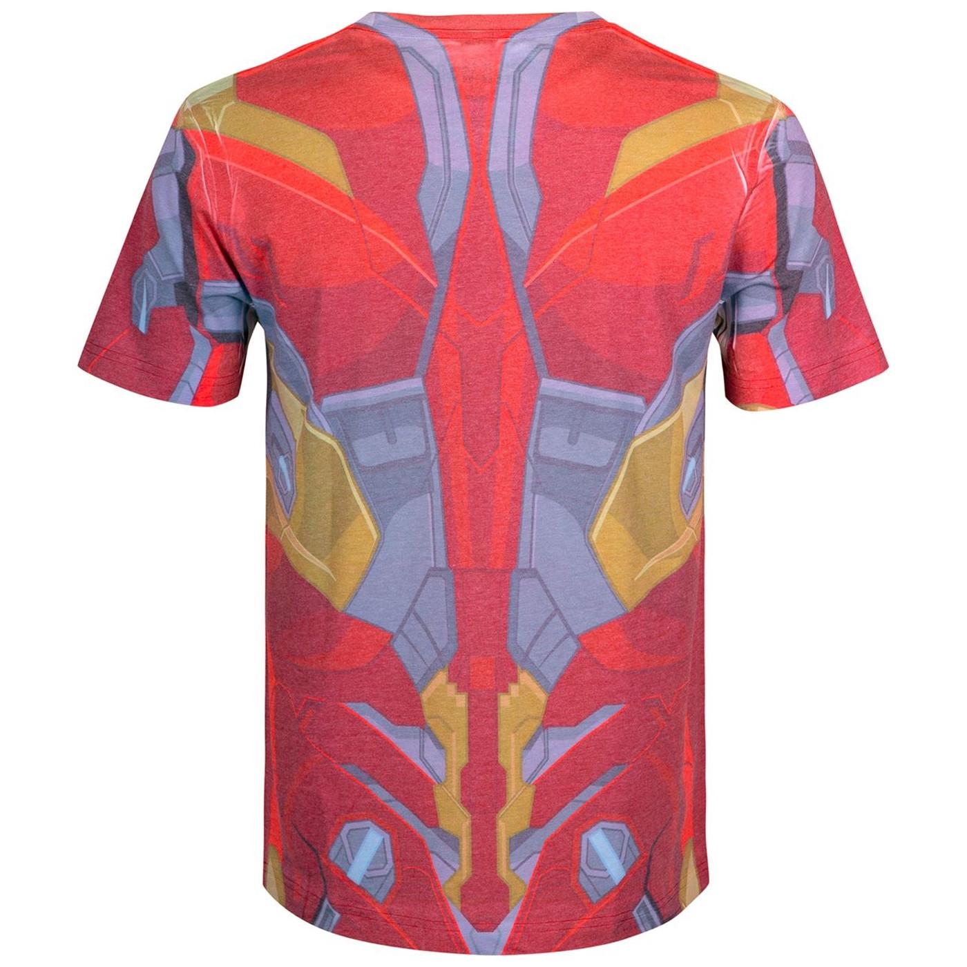 Iron Man Costume Sublimated Men's T-Shirt