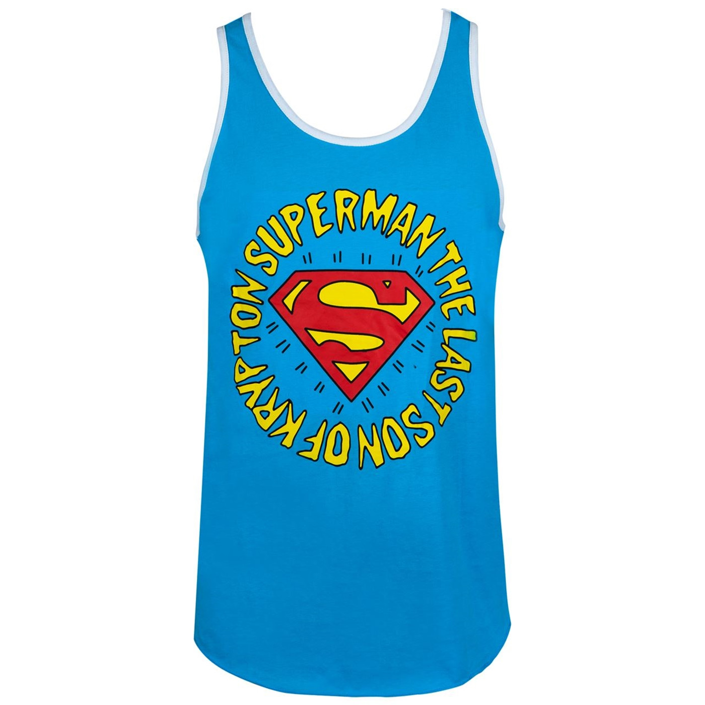 Superman Last Son of Krypton Ringer Tank