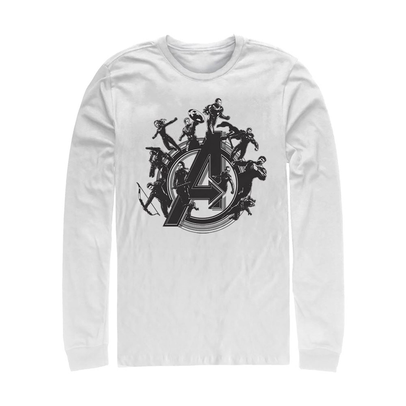 Avengers Endgame Flying Heroes Long Sleeve