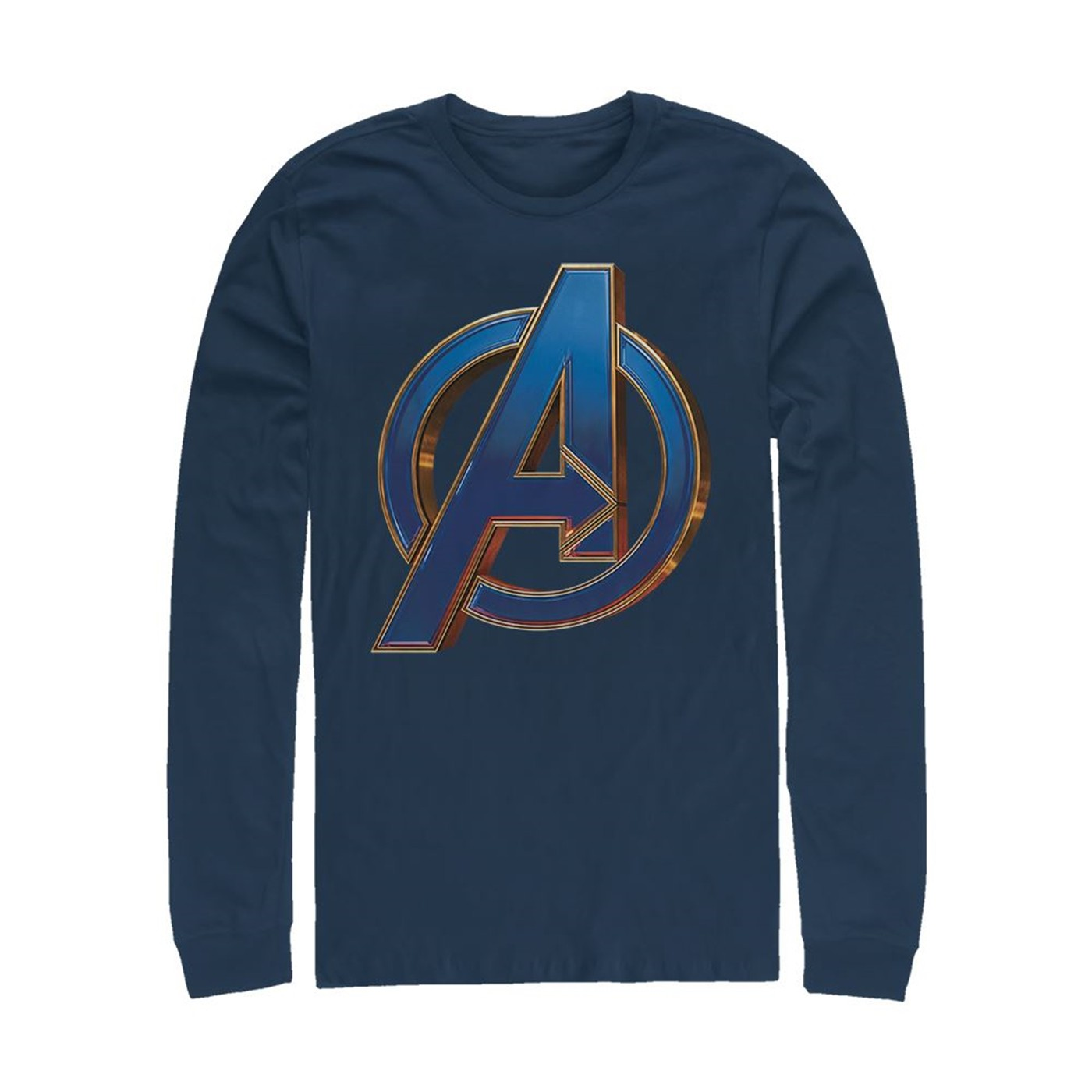 Avengers Endgame Blue Logo Long Sleeve