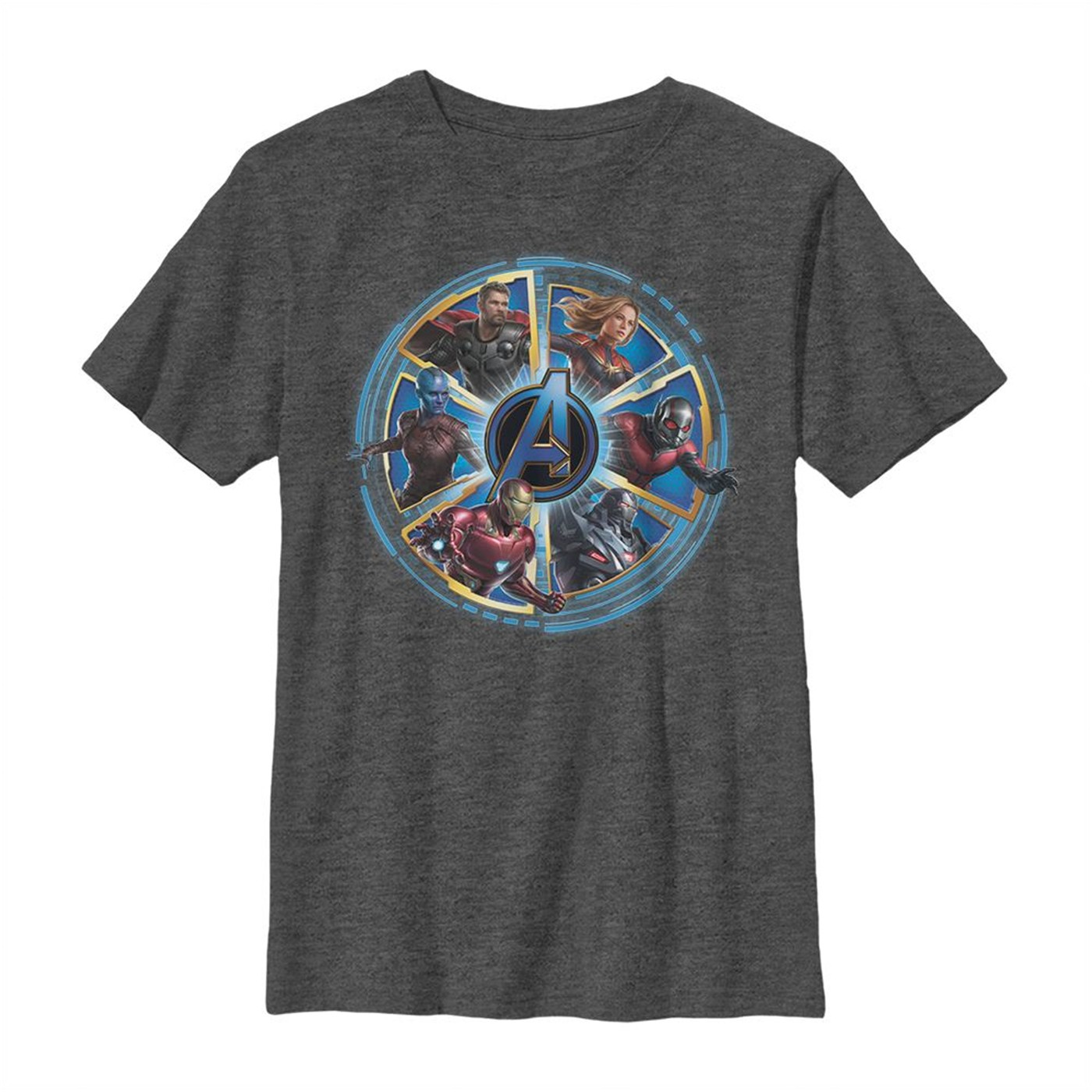Avengers Endgame Heroes Circle Youth T-Shirt