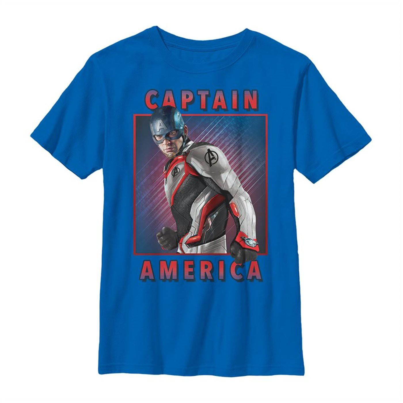 Avengers Endgame Captain America Armor Solo Youth T-Shirt