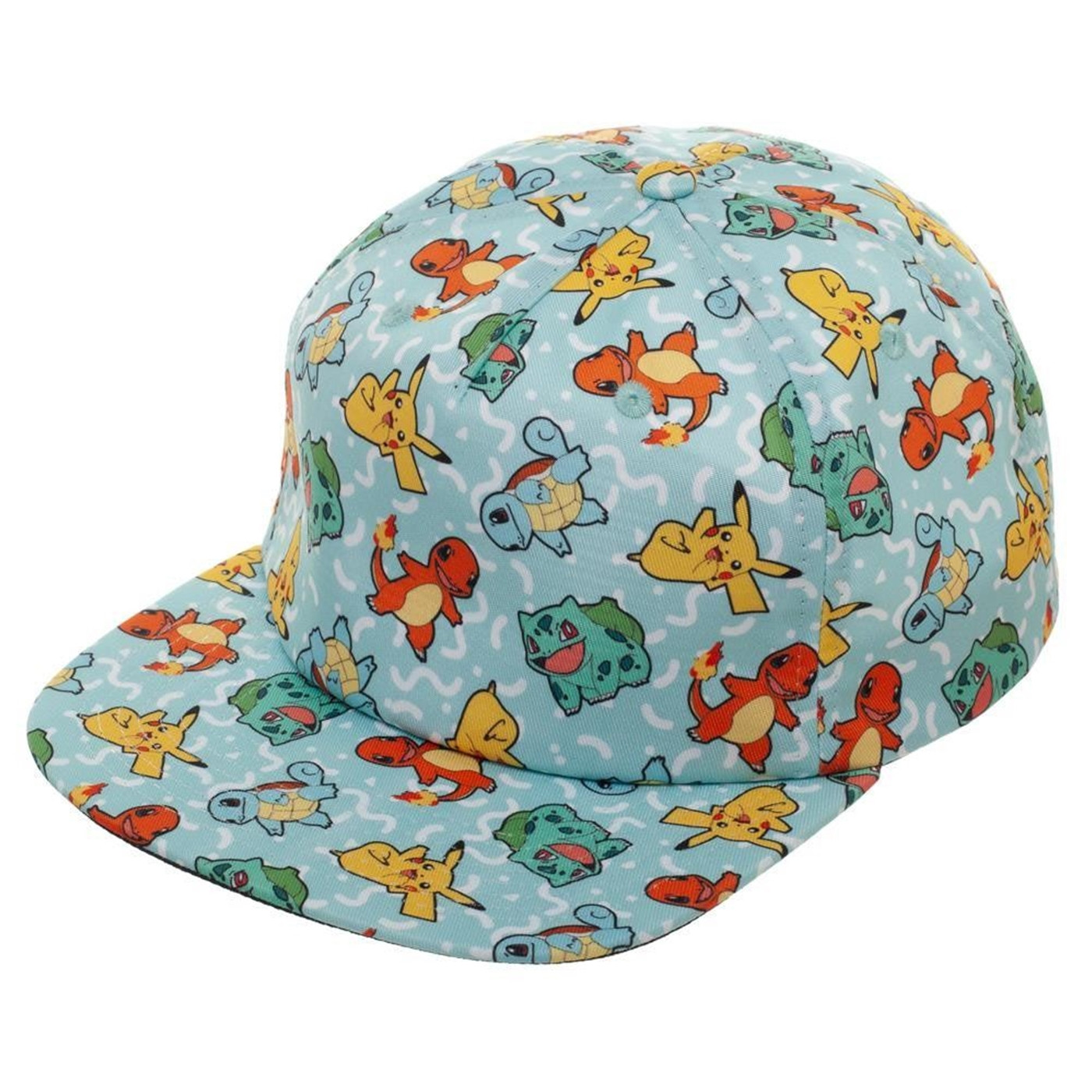 Pokemon All Over Character Snapback Hat