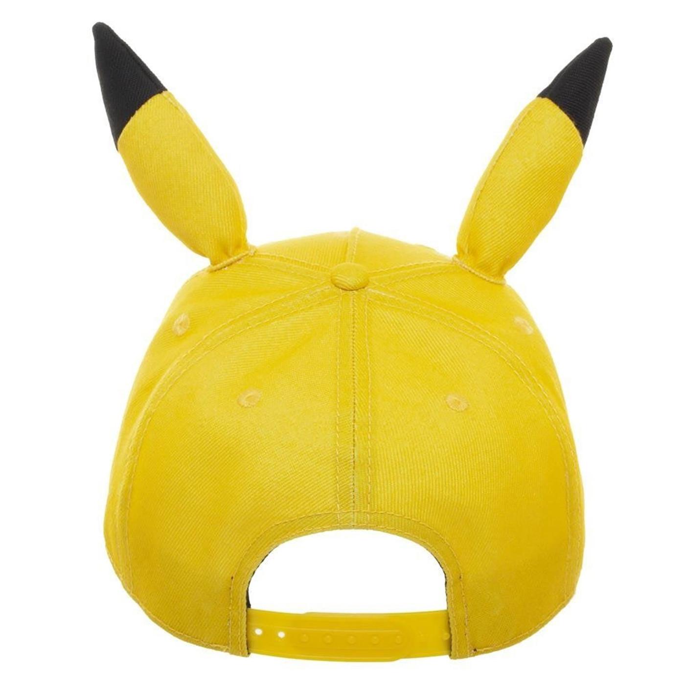 Pikachu Bigface Pre-Curved Bill Snapback Hat