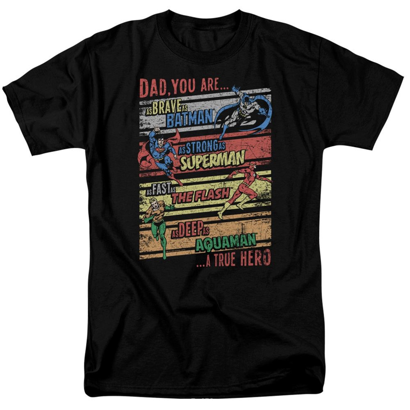 A True Hero Justice League Father's Day Men's T-Shirt