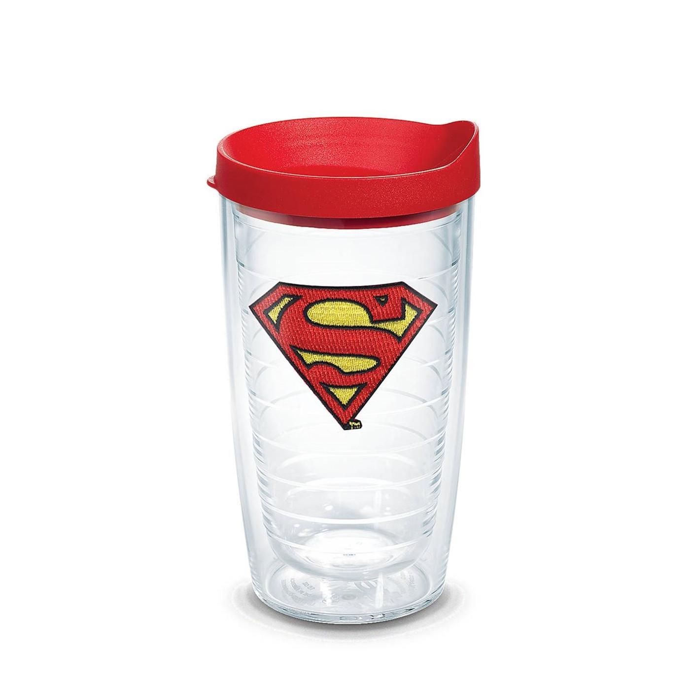 Superman Emblem Tumbler with Lid 16 oz Tervis®
