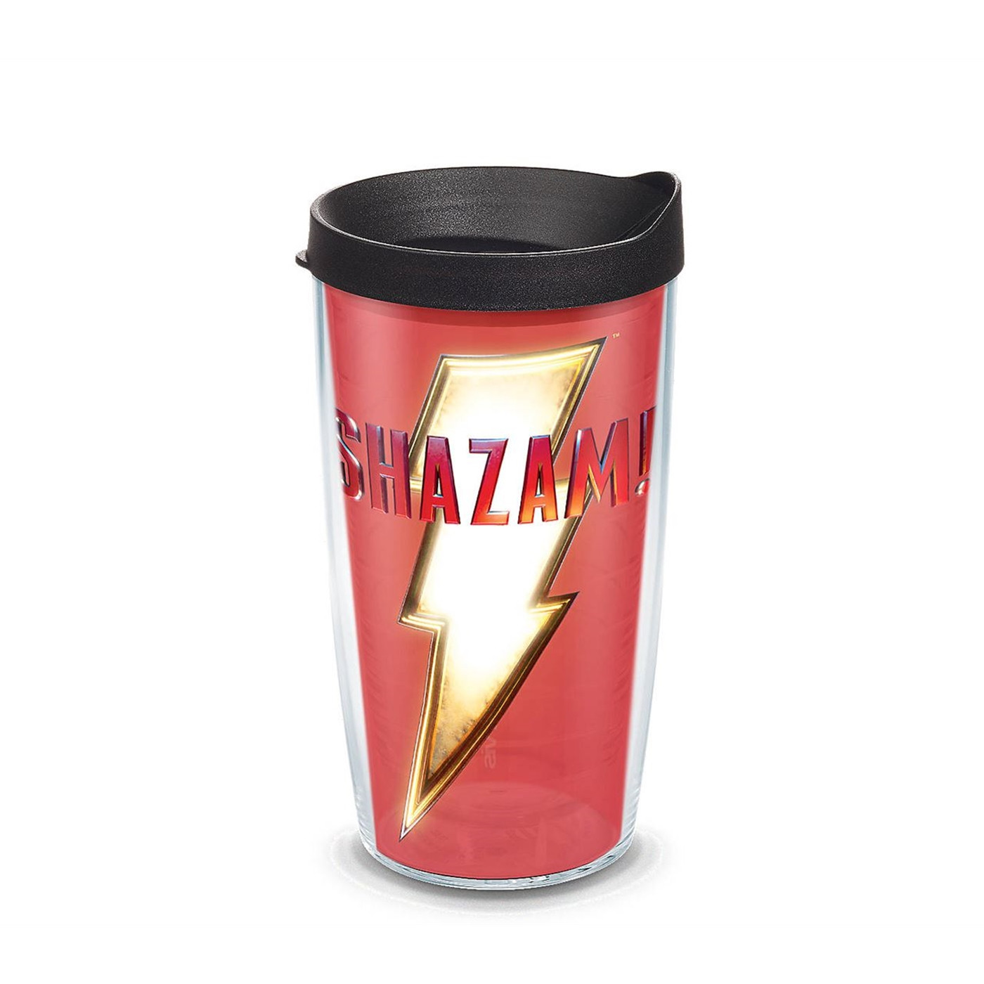 Shazam! Crest Wrap With Travel Lid 16 oz Tervis® Tumbler