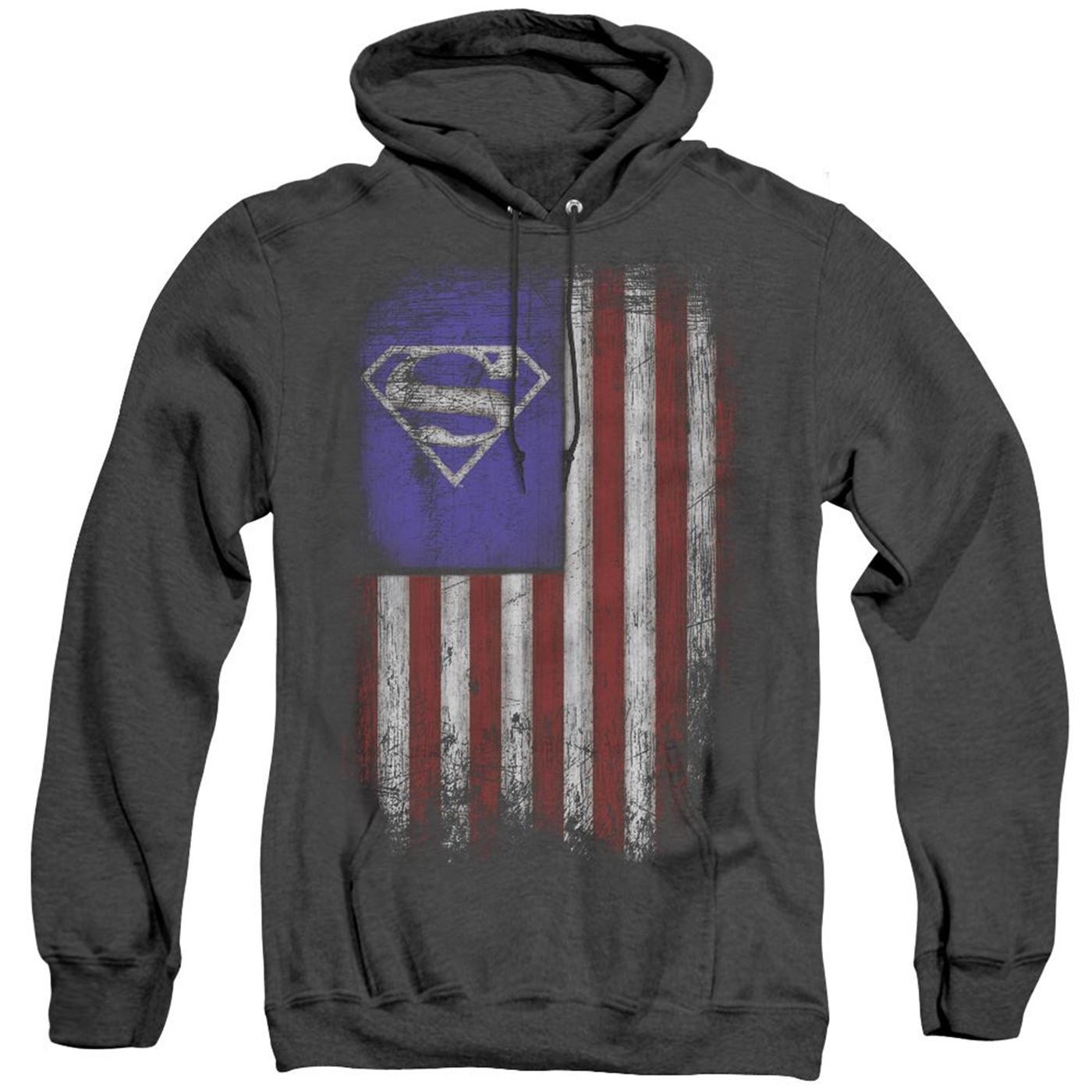 Superman Old Glory Shield Men's Hoodie