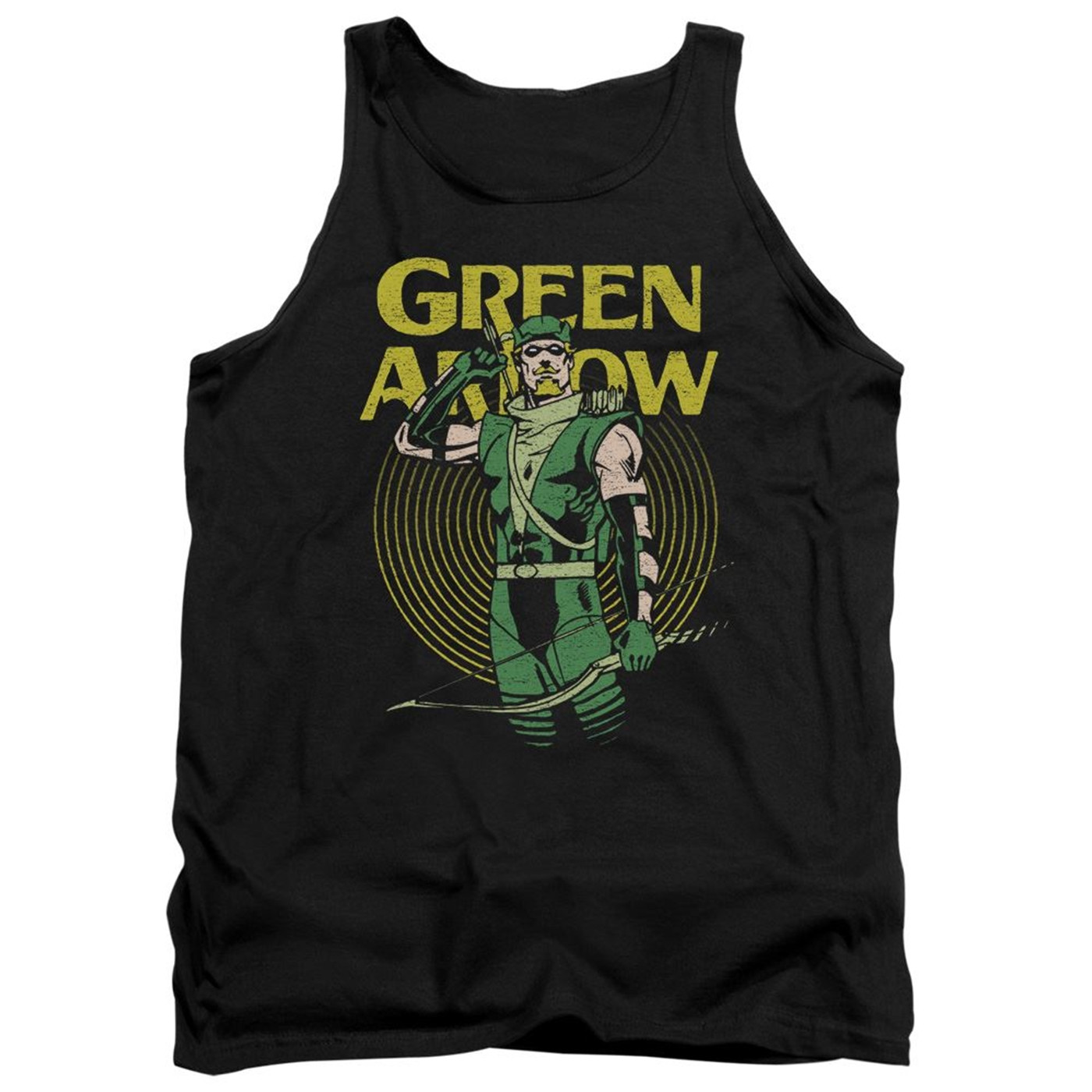 Green Arrow In Yellow Circle Tank Top