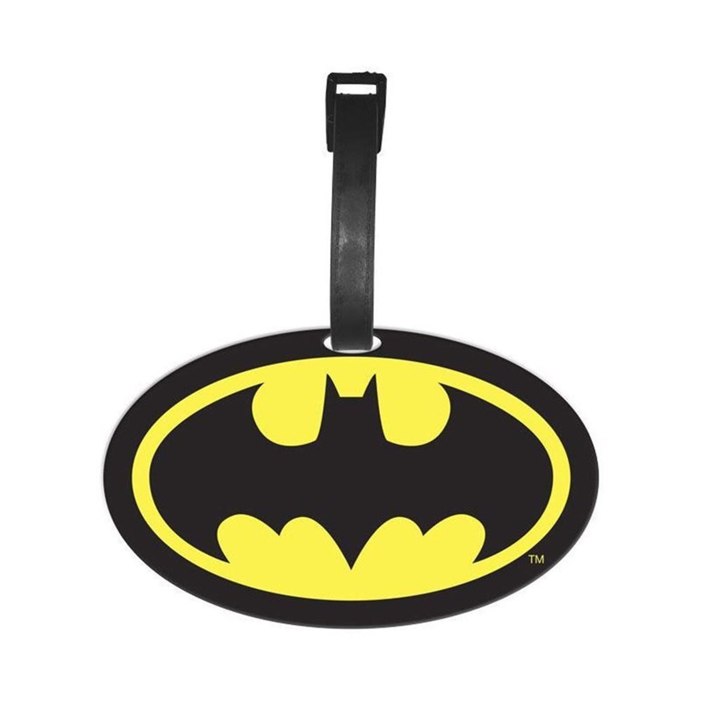 Batman Symbol Luggage Tag