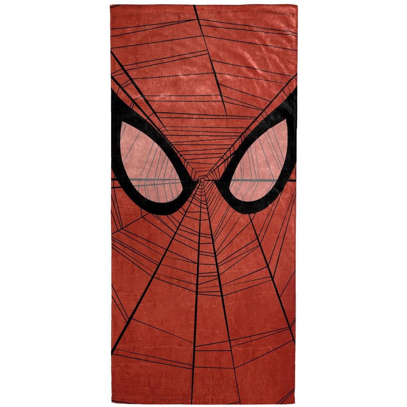 Spider-Man Face Beach Towel