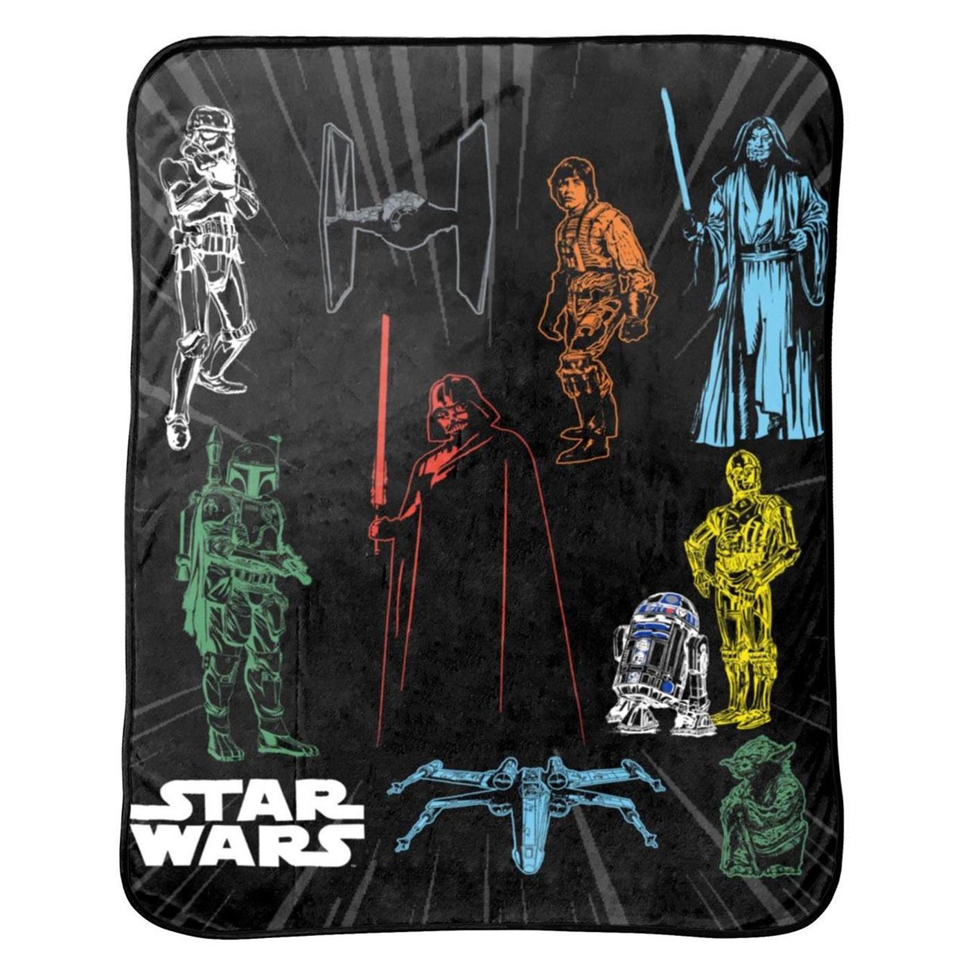 Star Wars Classic Characters Throw