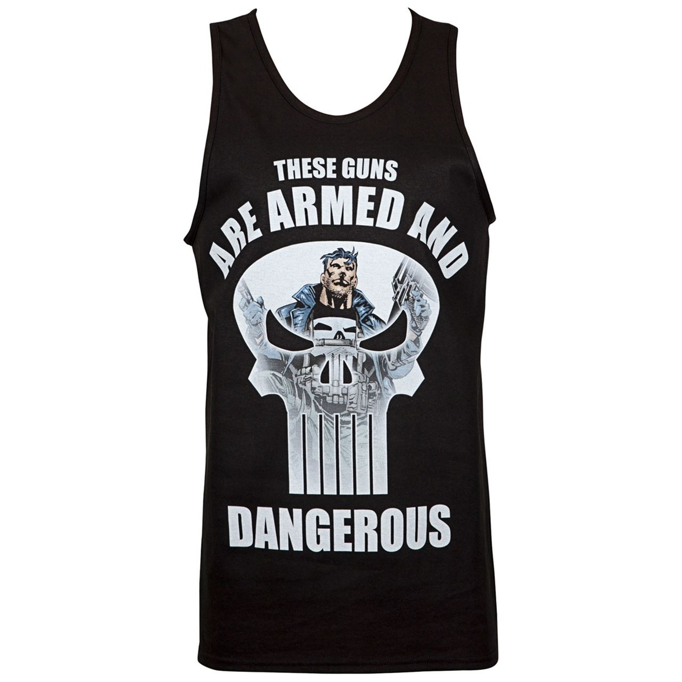 Punisher Guns are Armed and Dangerous Tank Top