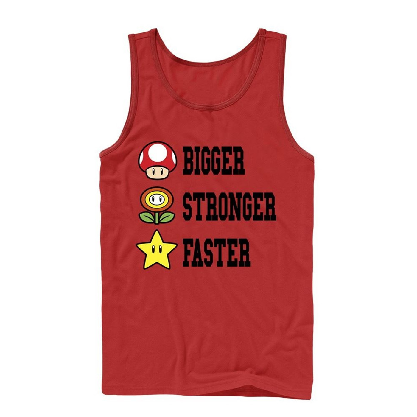 Mario Bigger Stronger Faster Tank Top