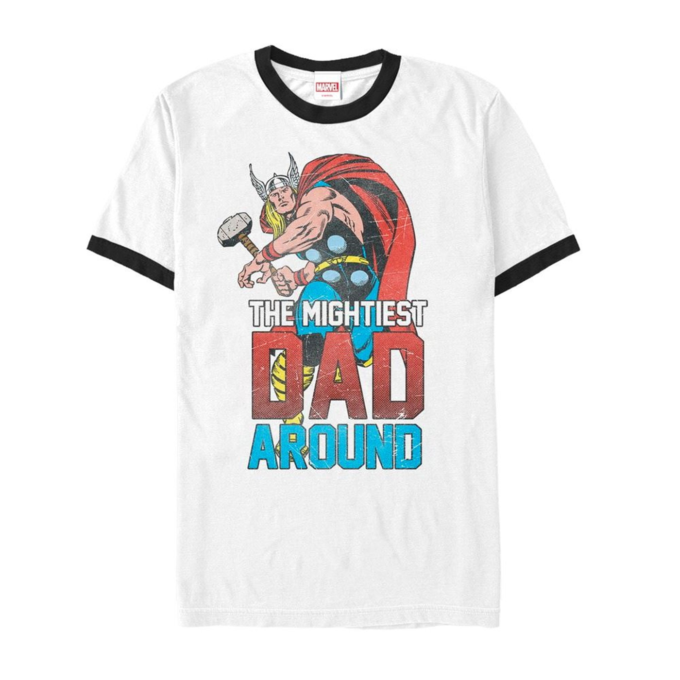 Thor Mightiest Dad Marvel Ringer T-Shirt