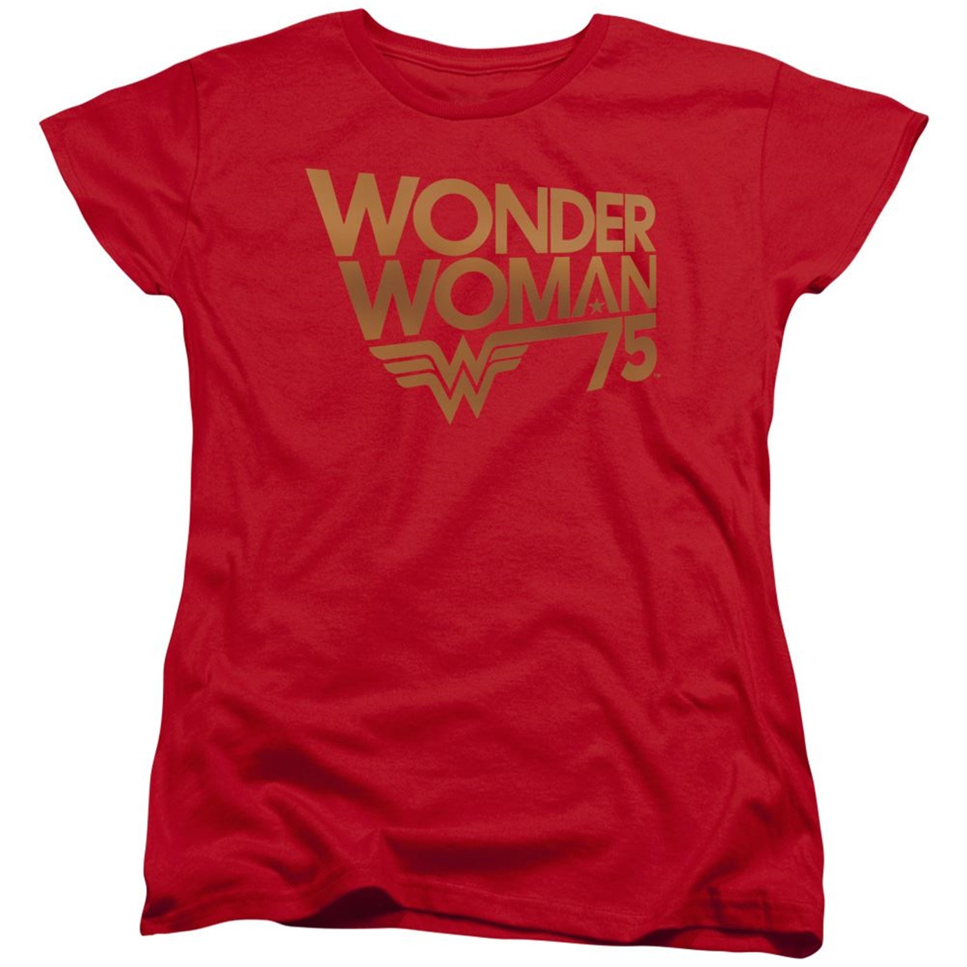 Wonder Woman 75 Red and Gold Women's T-Shirt