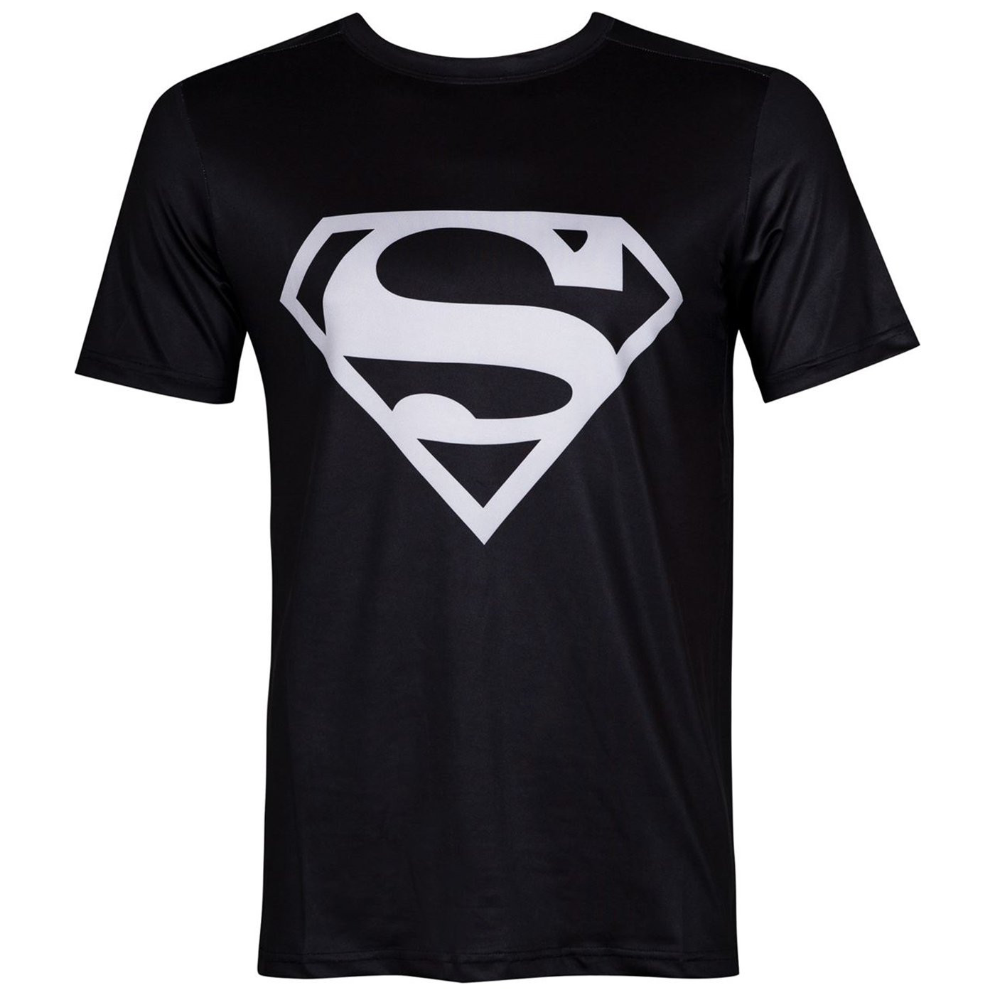 Superman Silver Logo Performance Athletic Adult T-Shirt