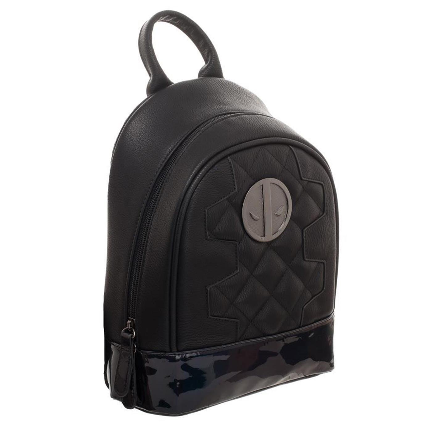 Marvel Deadpool Metallic Quilted Mini Backpack