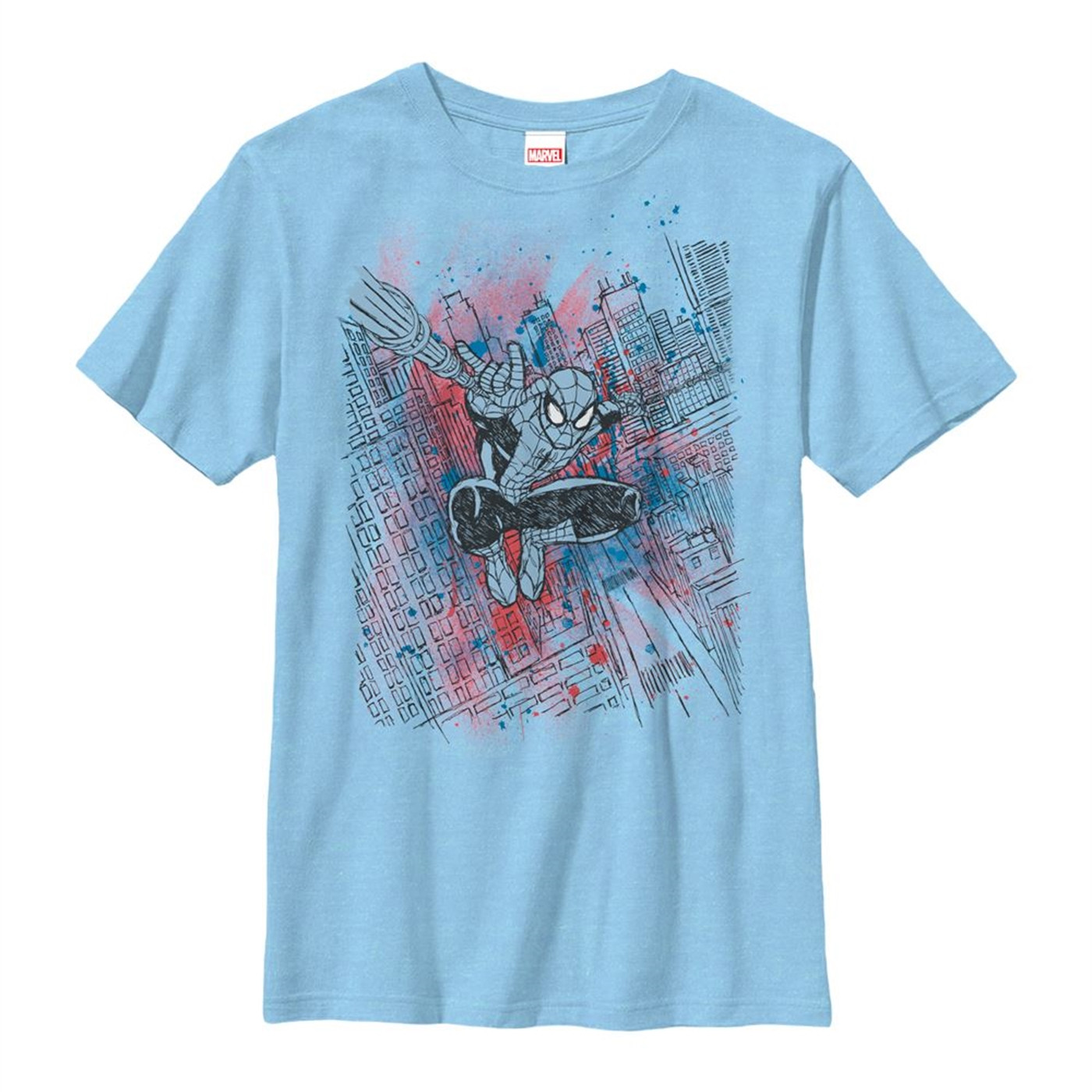 Spider-Man Sketched Out Youth T-Shirt